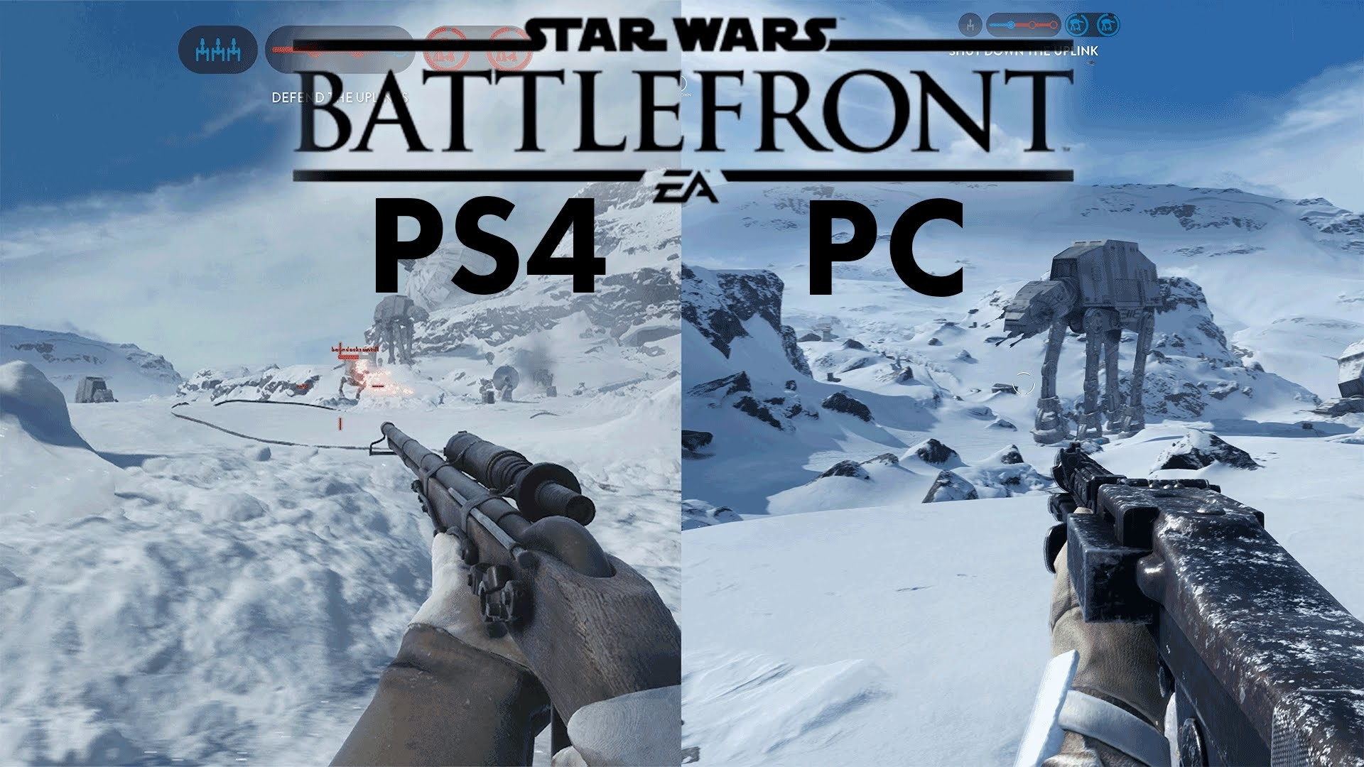 1920x1080 Star Wars Battlefront BETA | PC vs PS4 | 4k vs 1080p ULTRA Gameplay  Comparison - YouTube