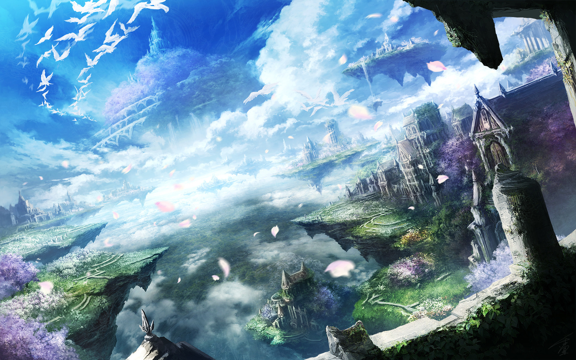 1920x1200  Beautiful Anime Landscapes HD Wallpaper From Gallsource.com