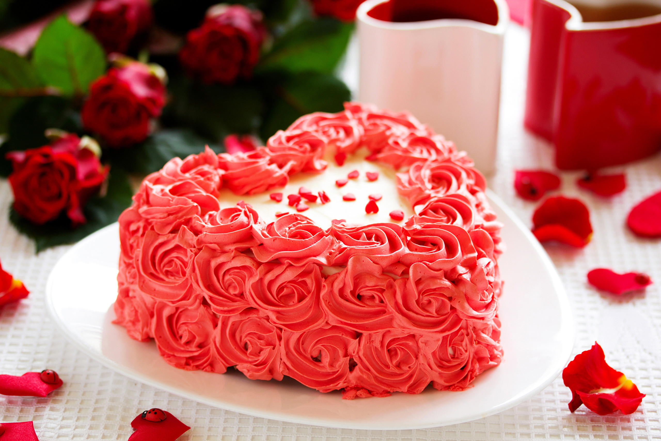 2560x1706 sweets cakes roses heart love