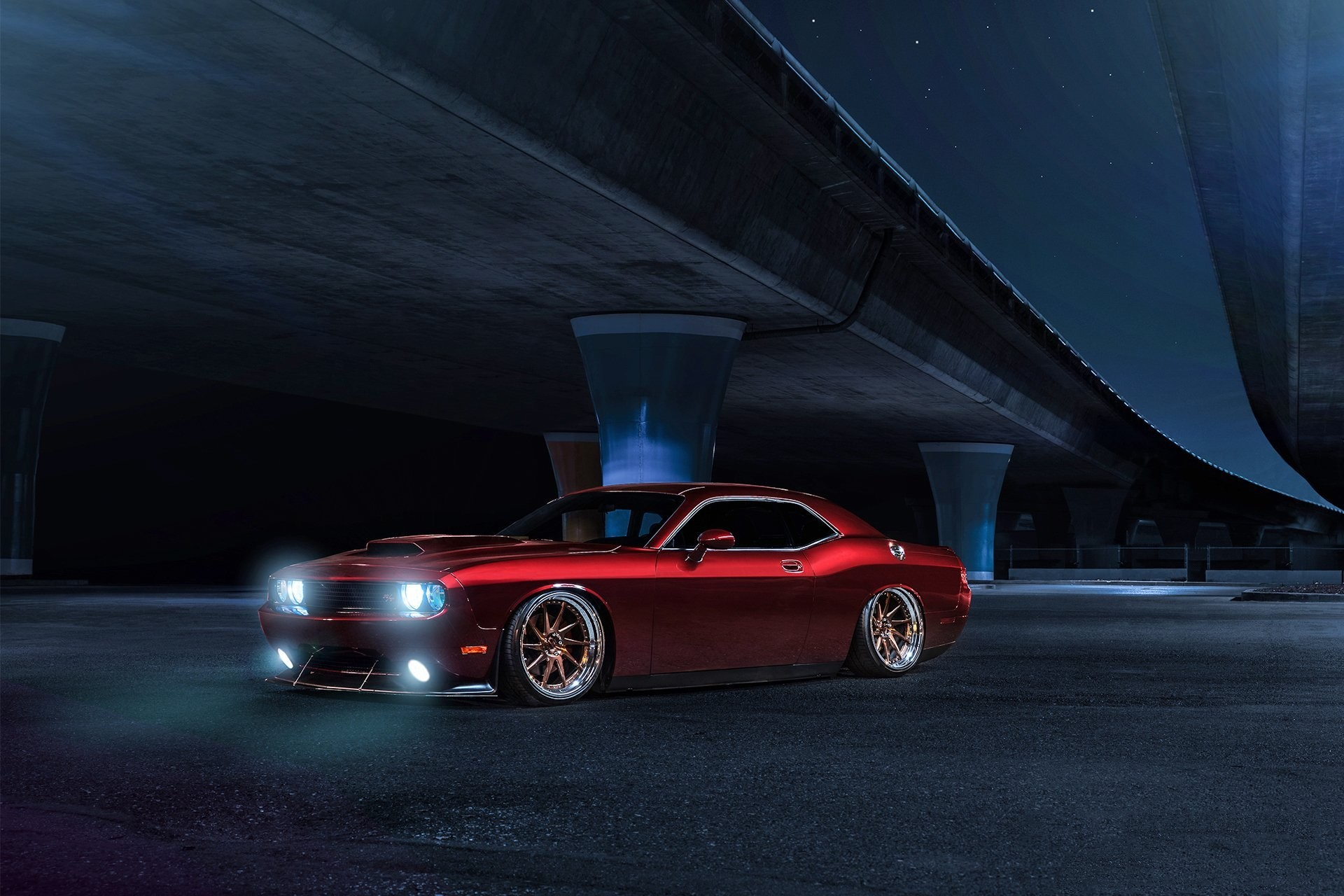 1920x1280 dodge challenger avant garde wheels american muscle car candy red front