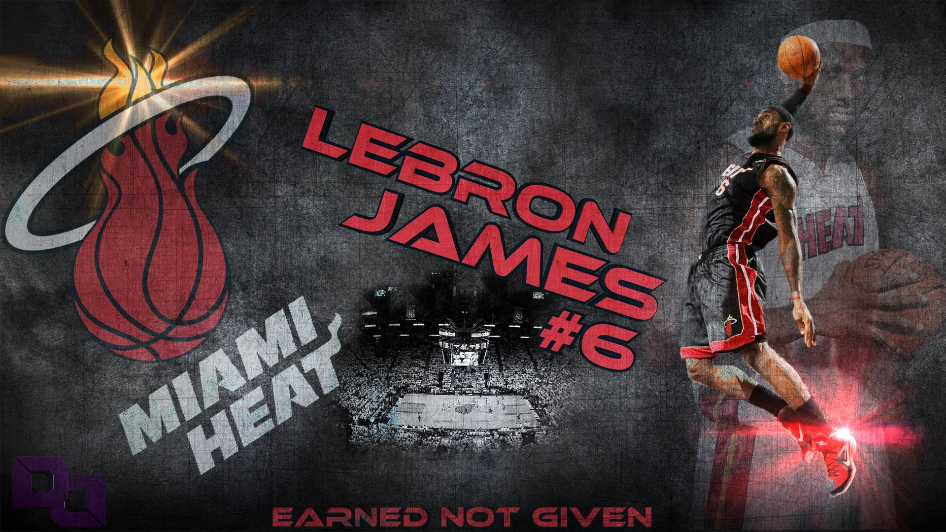 1920x1080 LeBron James Dunk Miami Heat Wallpaper Id #6462 | Frenzia.