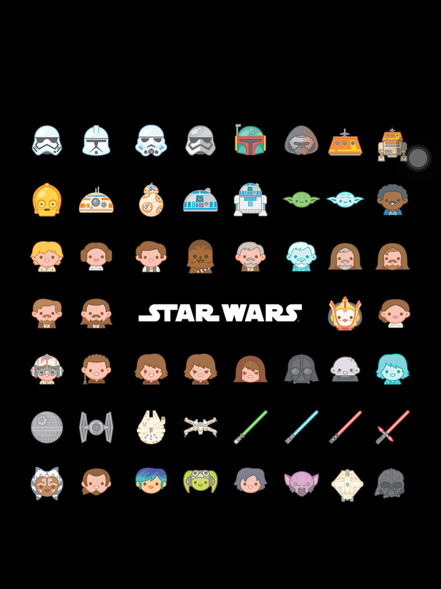 1536x2048 Star Wars emoji background... Follow me for more