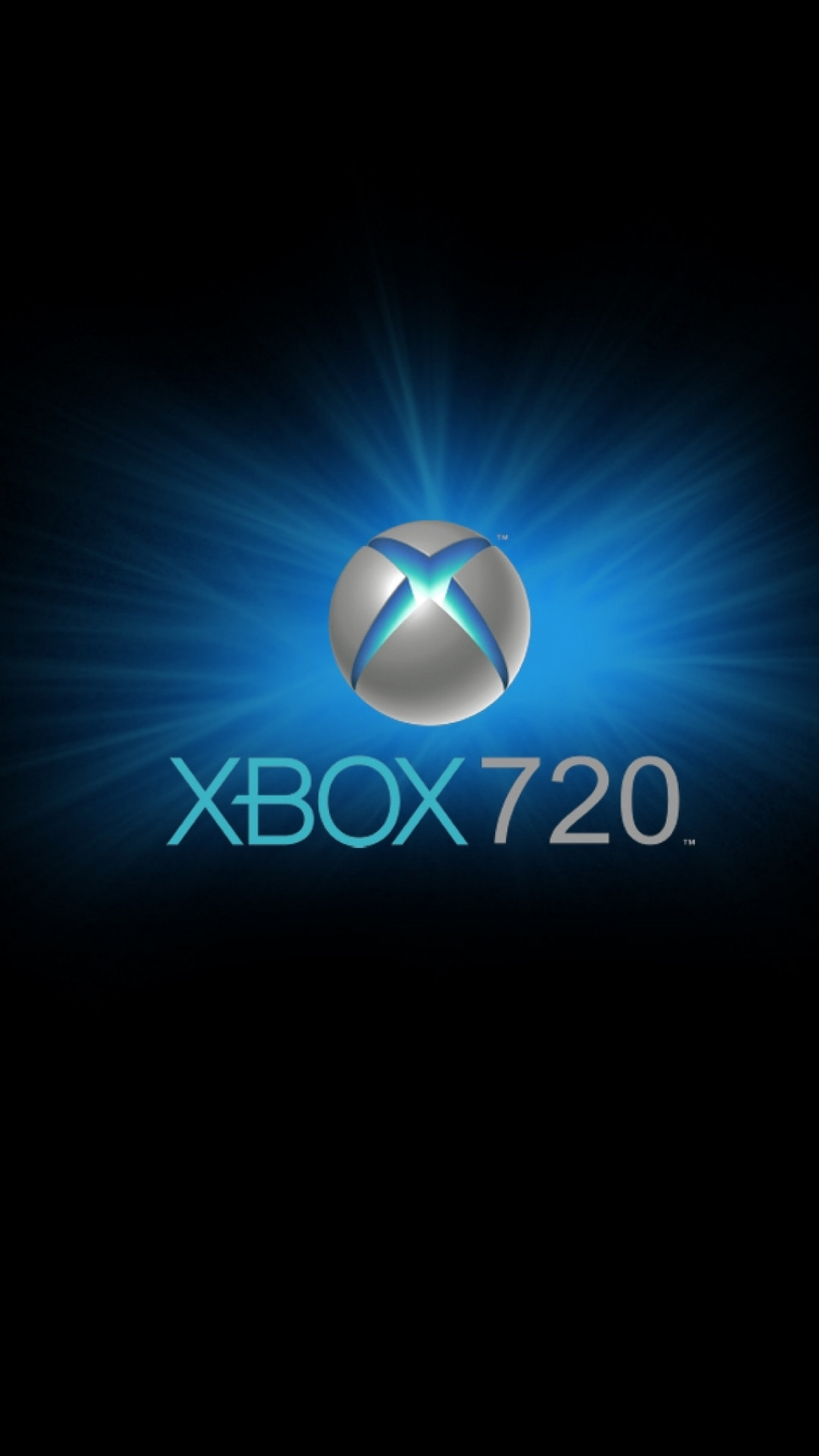 1080x1920 Preview wallpaper xbox, game console, blue, circle, black