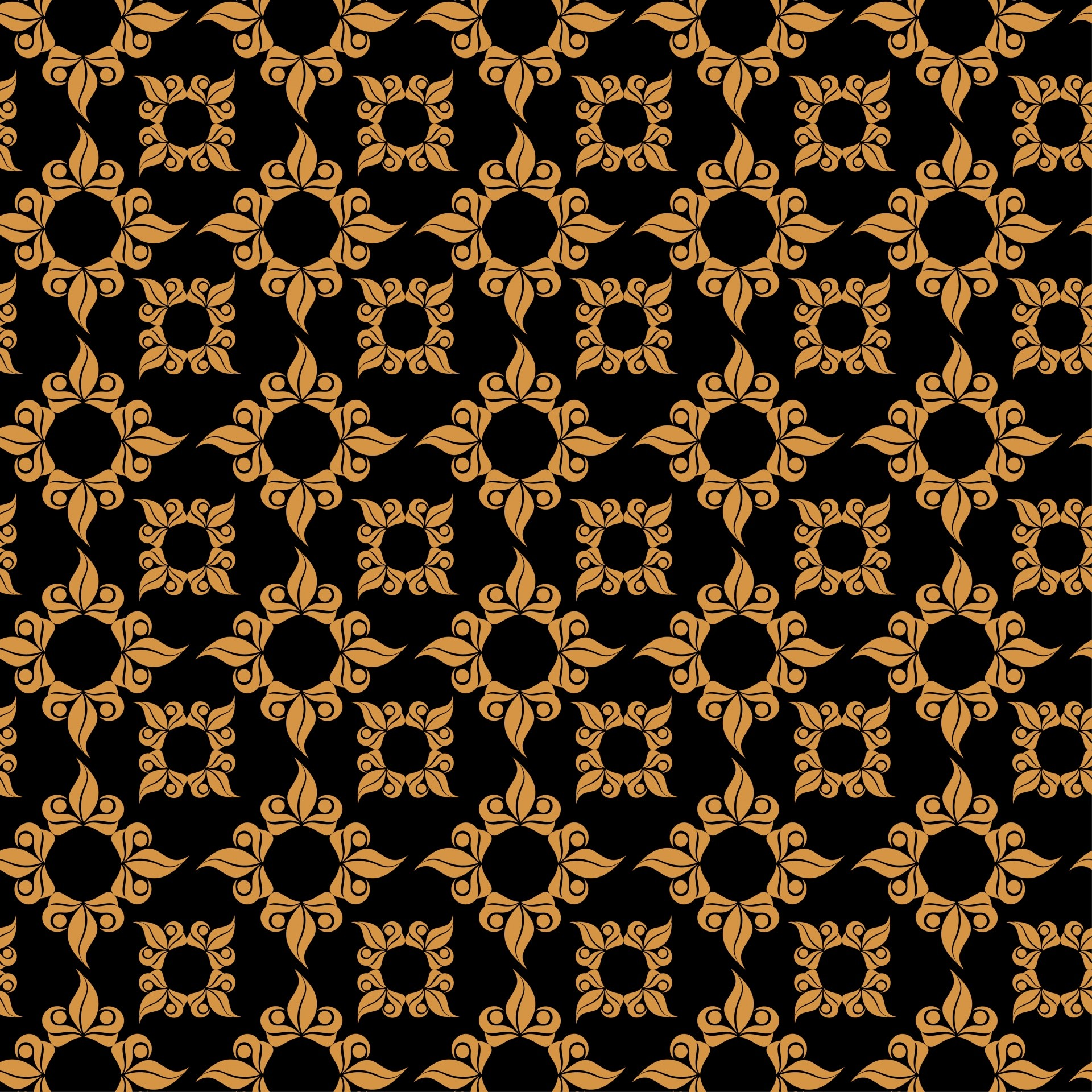 1920x1920 Ornamental Black, Gold Background