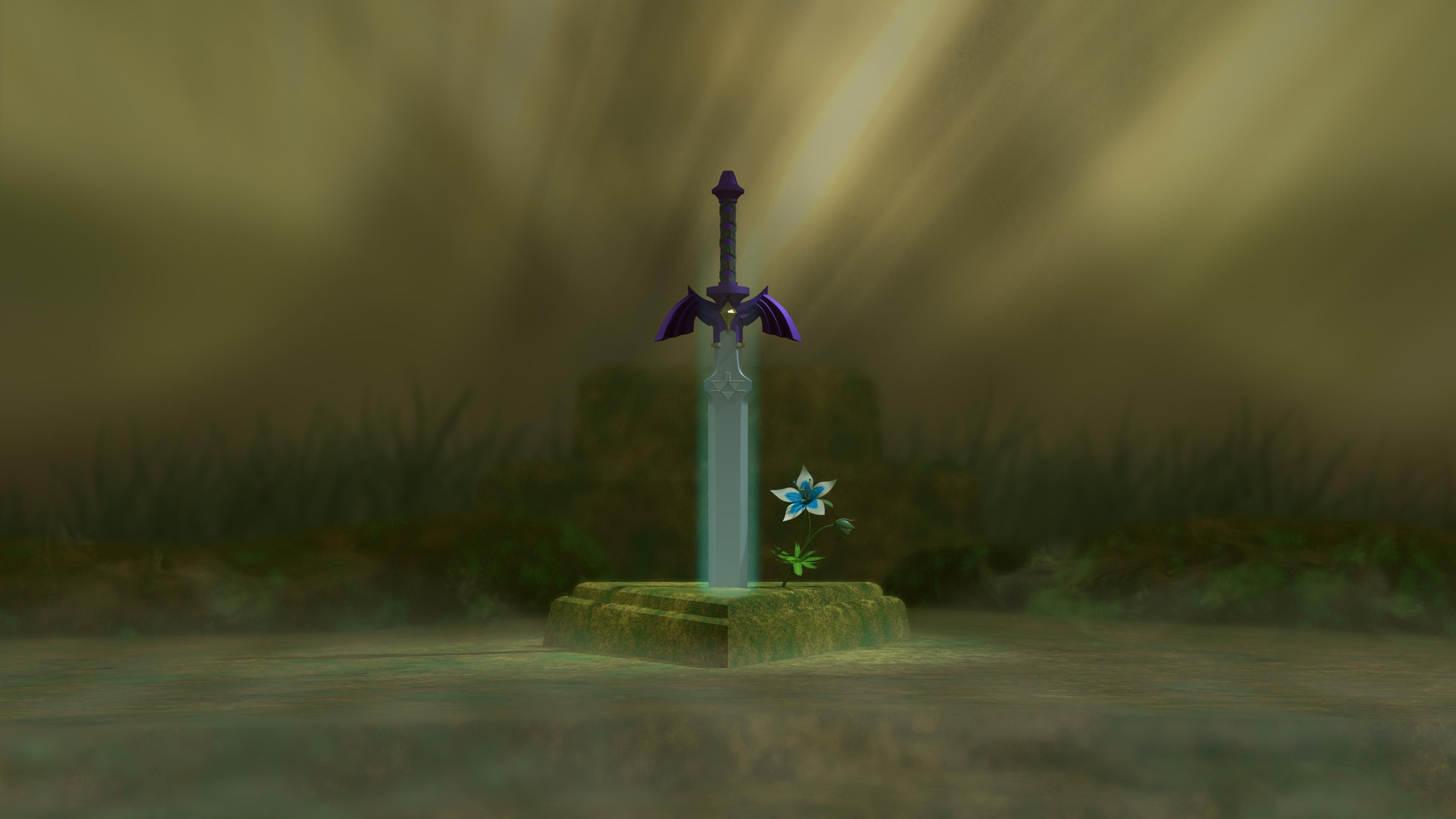 3840x2160 Res: 1920x1080, Master Sword - Zelda Breathe of the Wild #wallpaper.  1920x1080 Master Sword ...