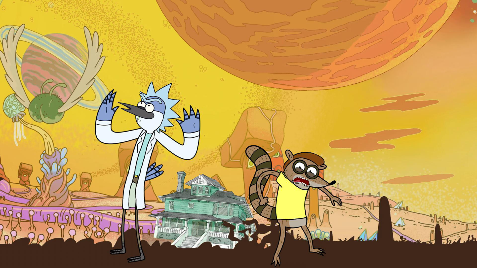 1920x1080 Rick and Morty is just a Regular Show