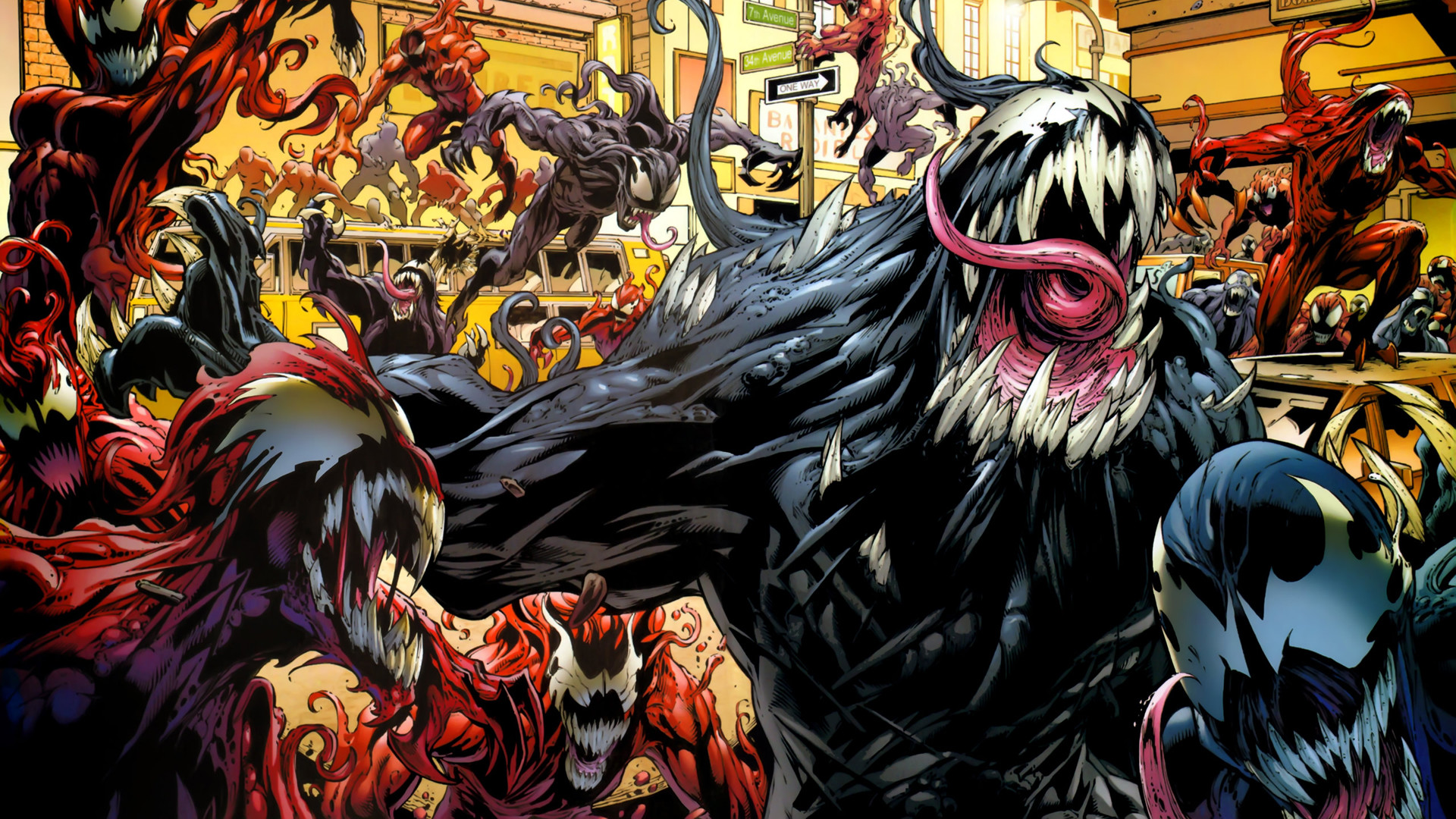 1920x1080 Venom Vs Carnage Wallpaper HD