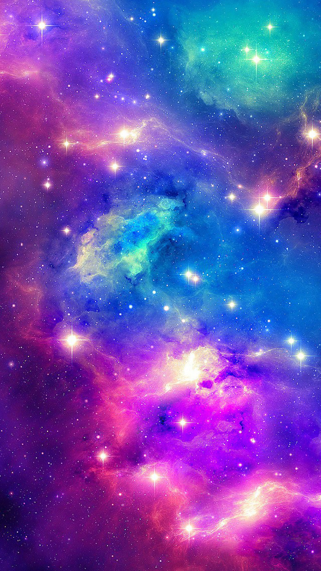 1080x1920 Sparkling Shiny Fantasy Outer Space #iPhone #7 #wallpaper