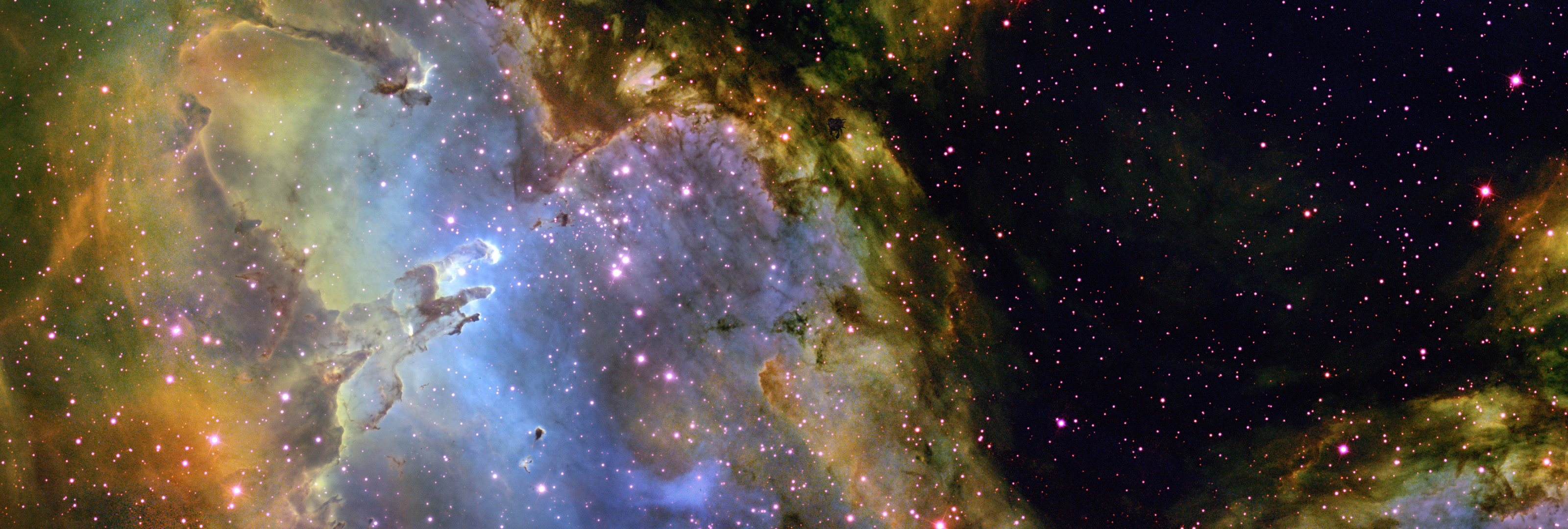 3200x1080 ... adamantpieeater Eagle Nebula Wallpaper 3200 X 1080 by adamantpieeater