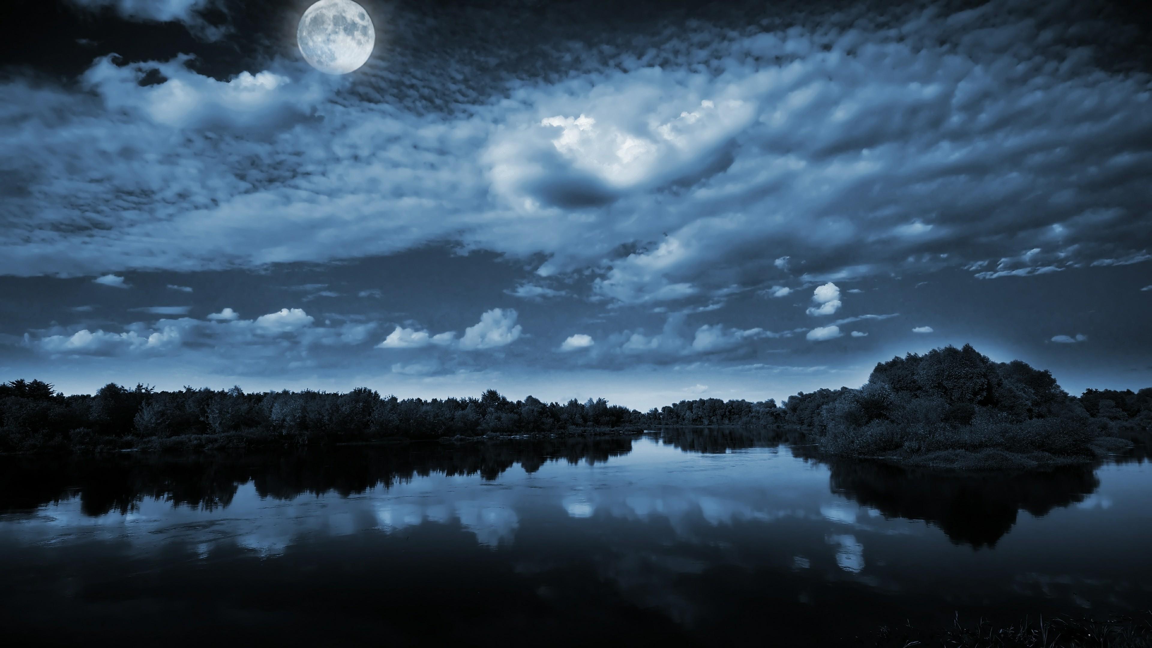 Free photo: Beautiful moonlight - Beautiful, Clouds, Moon