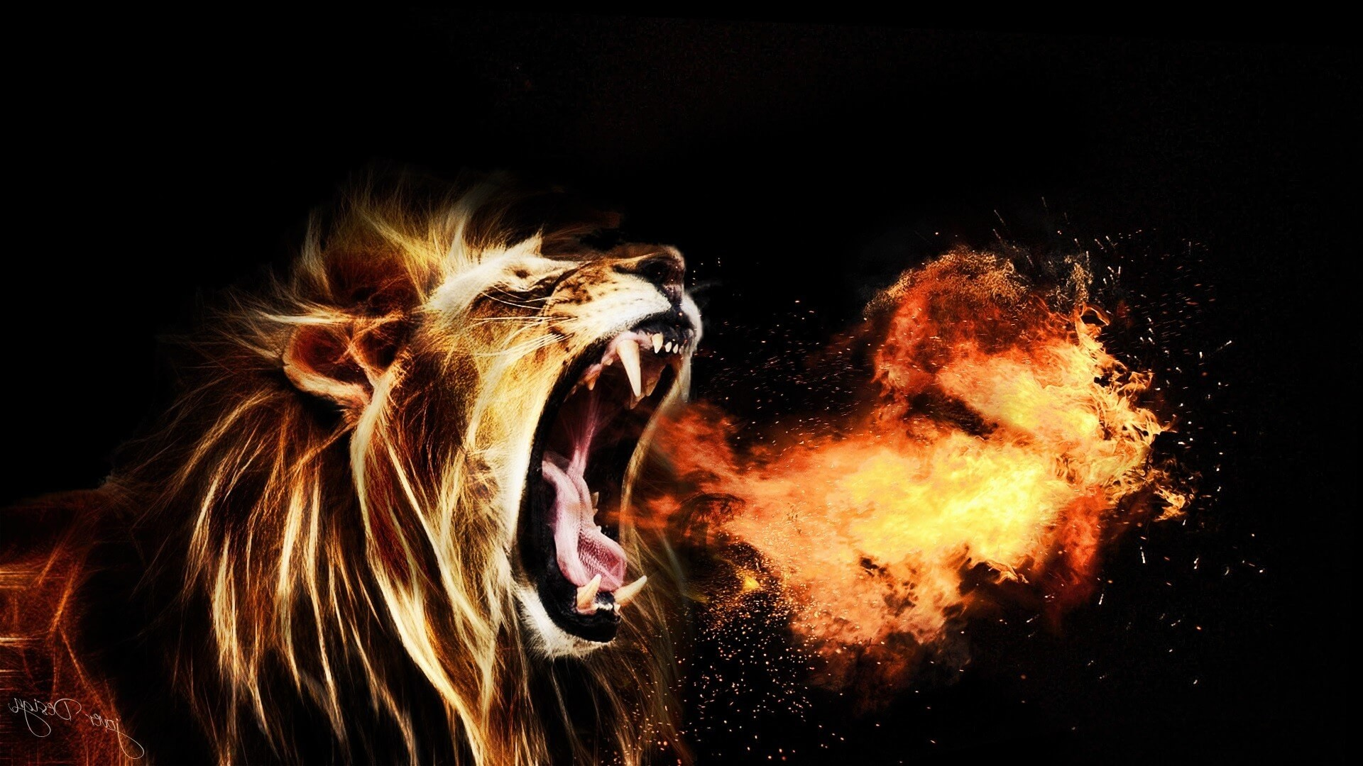 roaring lion wallpaper (67+ images)