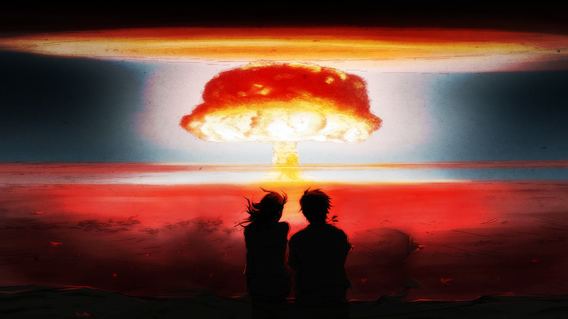 1920x1080 Nuclear-Blast Bomb Explosion Anime Drawing Mushroom Cloud Nuclear wallpaper  |  | 23570 | WallpaperUP