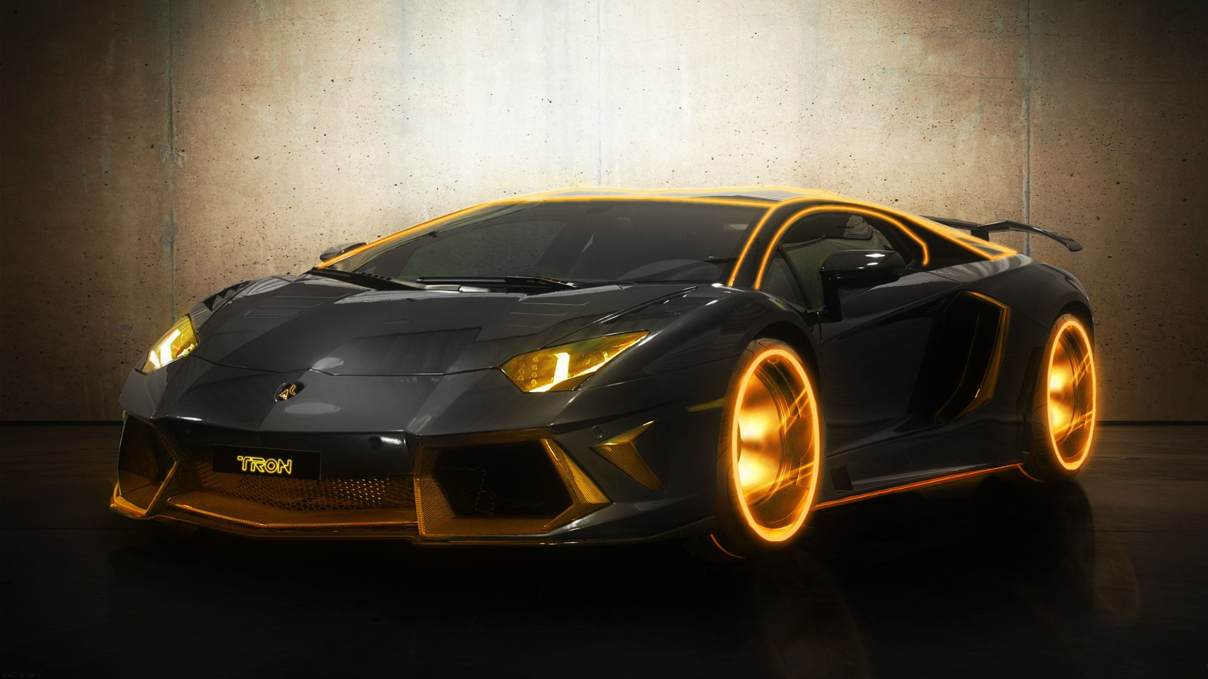 3840x2160 Pin Gold Cool Cars Wallpaper on Pinterest 0 HTML code. Lamborghini Aventador Tron Edition - Gear Heads