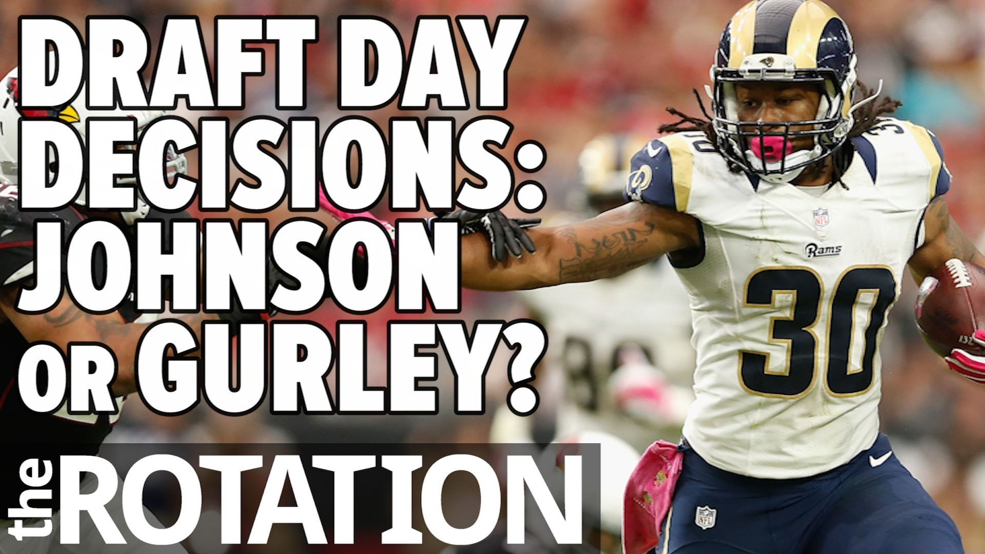 1920x1080 2016 Fantasy Football - Draft Day Decisions: Todd Gurley or David Johnson |  The Rotation
