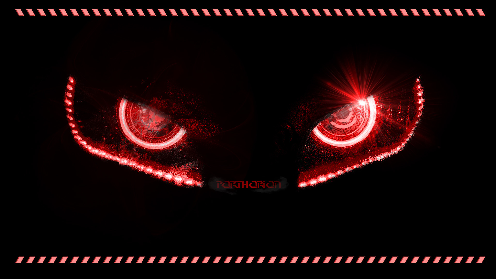 1920x1080 ... Badass Evil Robotic Eyes - With lines by porthorion