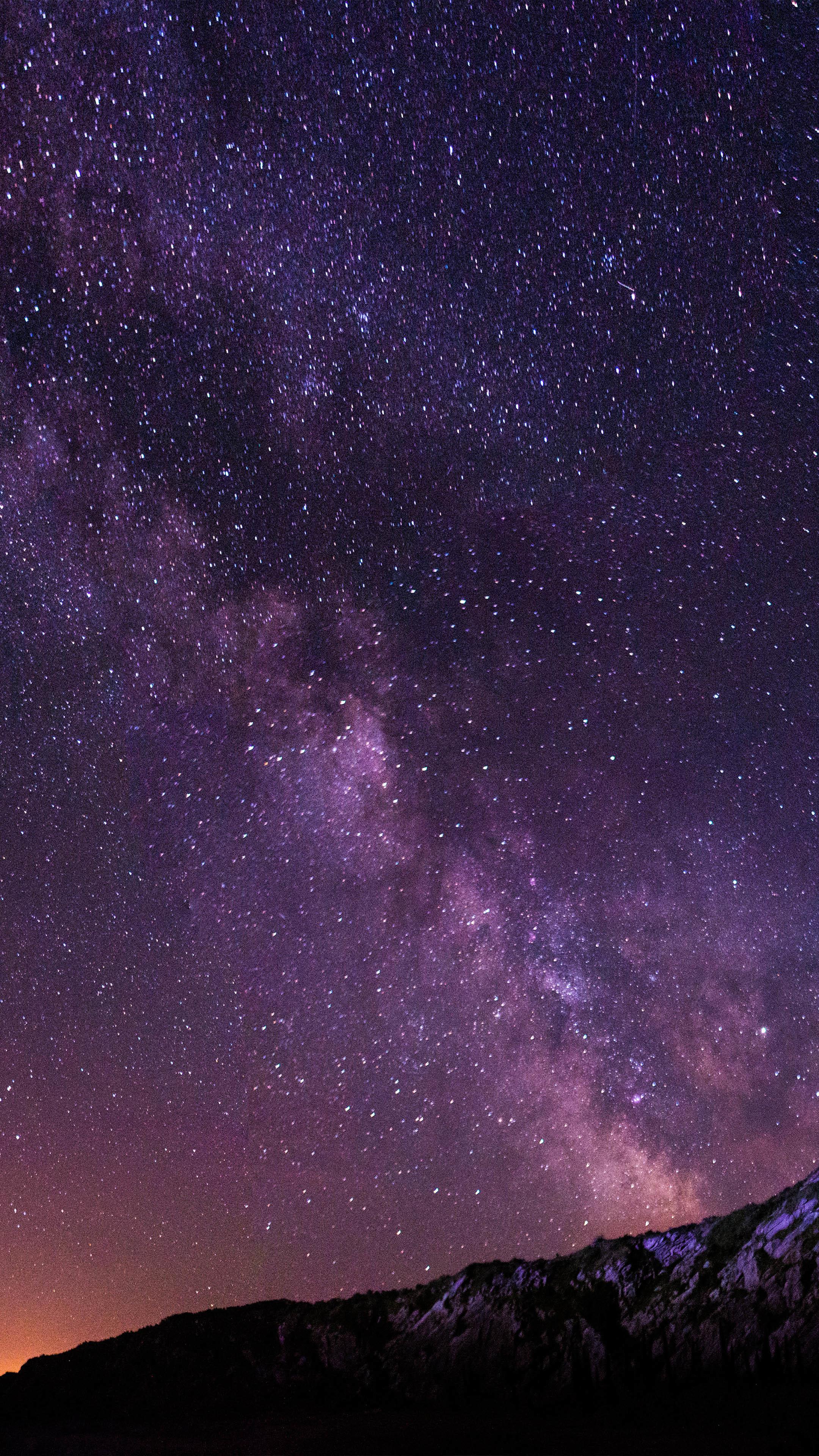 Purple Starry Night Wallpaper