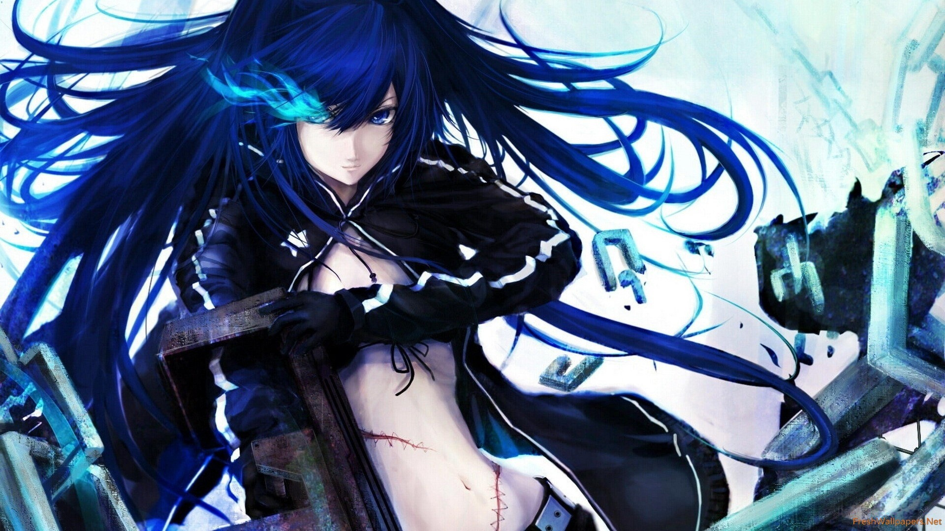 Anime gamer wallpaper 71 images - Blue anime wallpaper ...