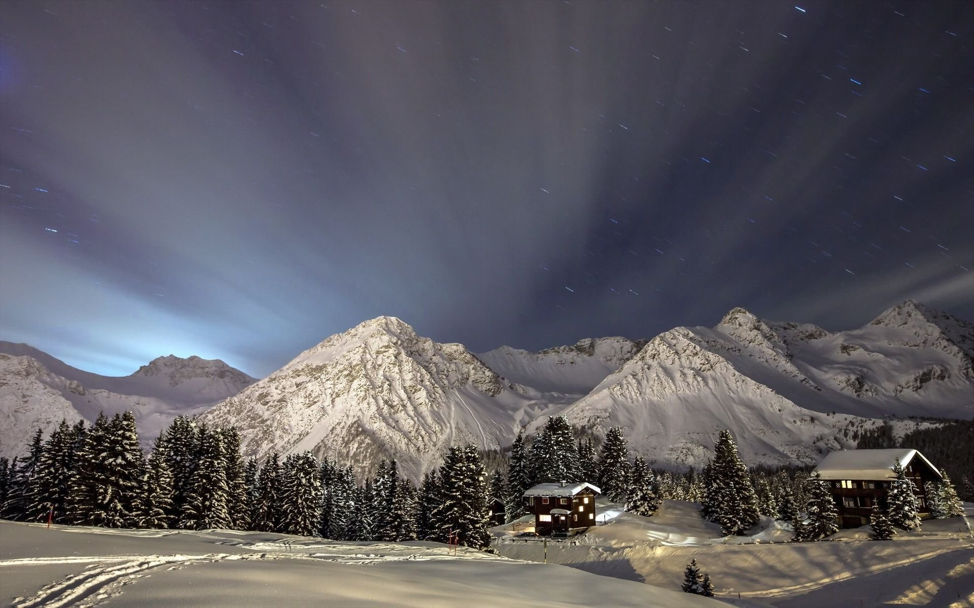 Winter Night Sky Wallpaper 64 Images