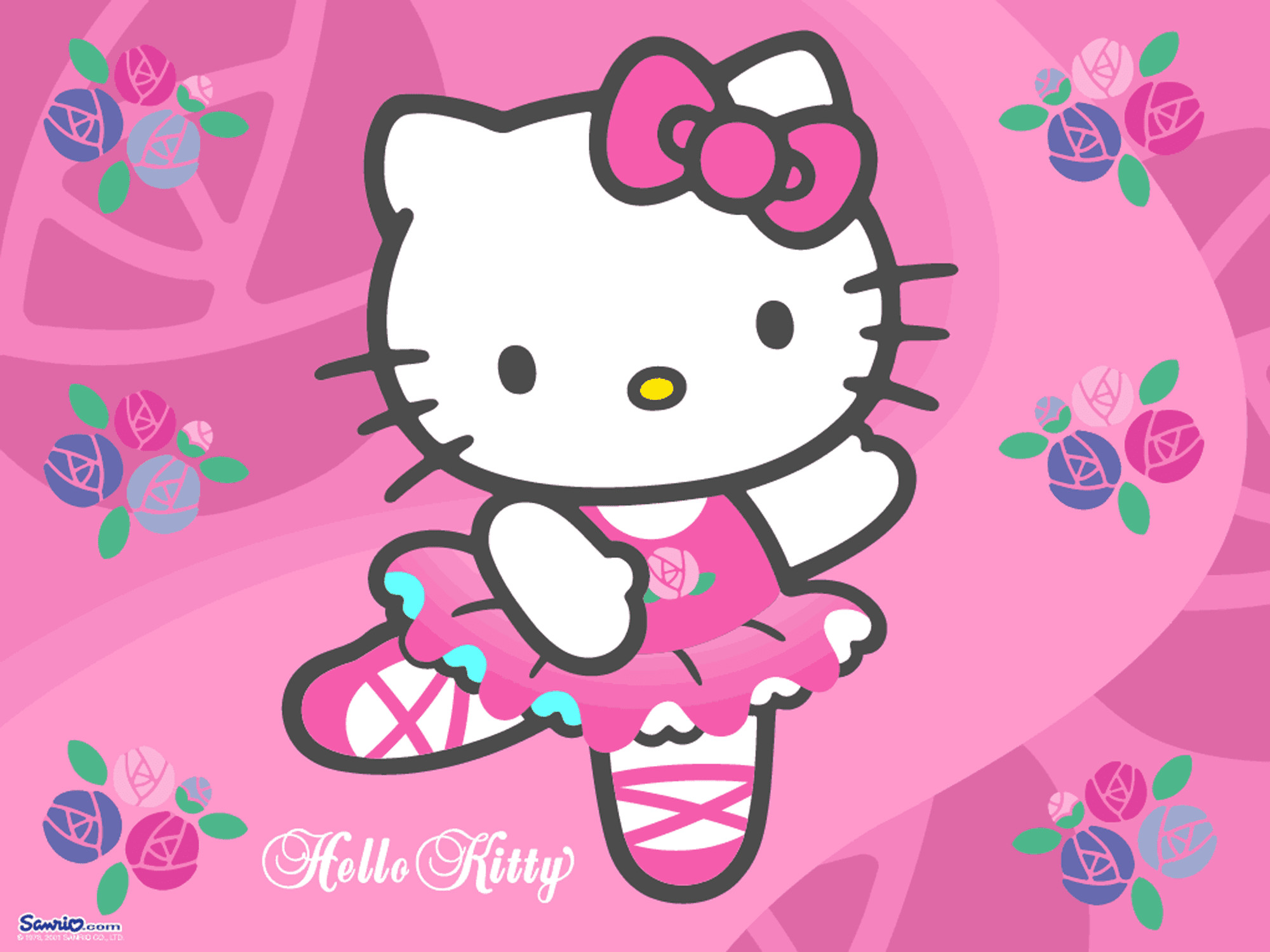 2000x1500 Ballerina Hello Kitty Wallpaper
