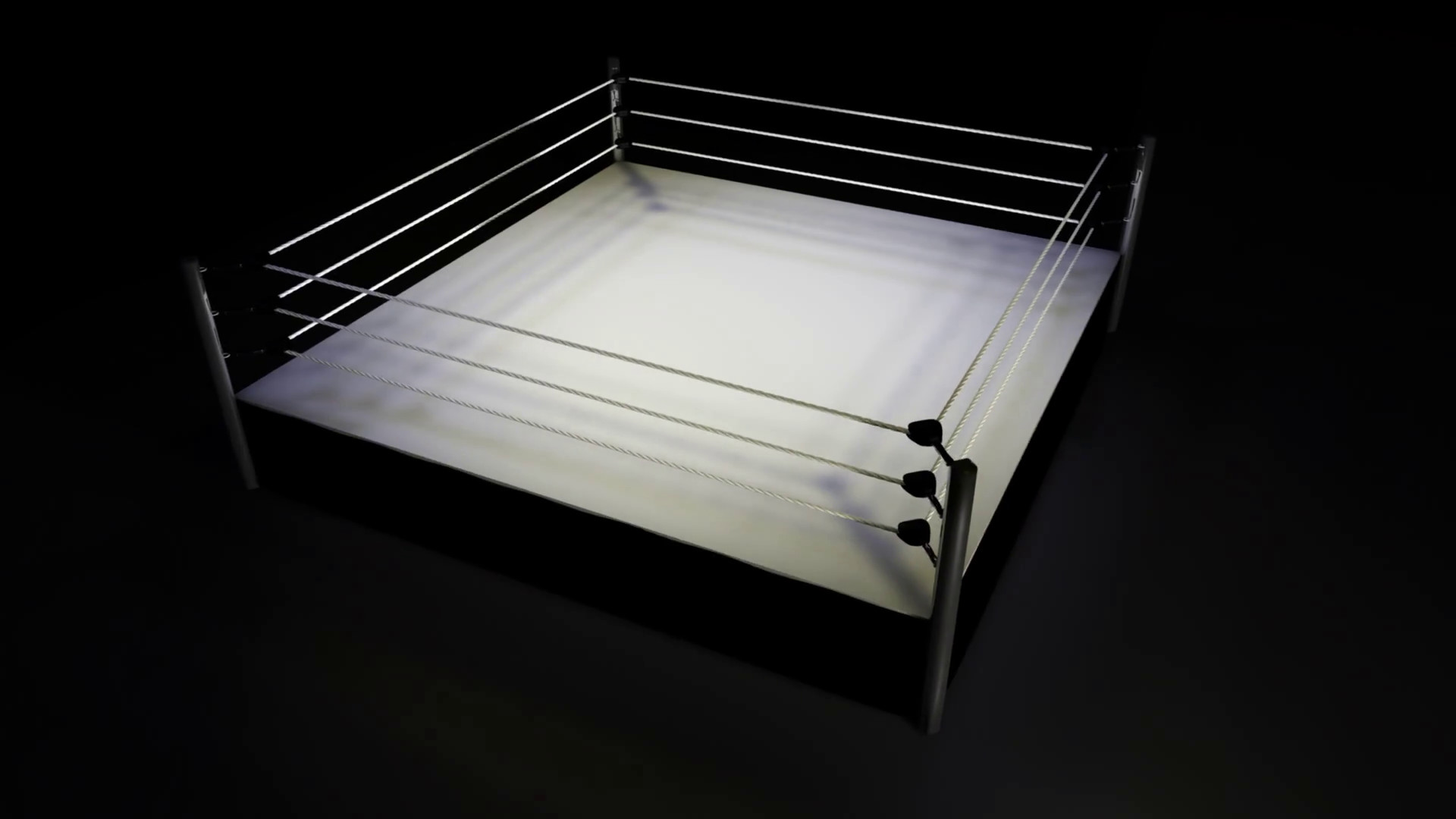 1920x1080 Rotating Boxing Wrestling Ring On Black Background Motion