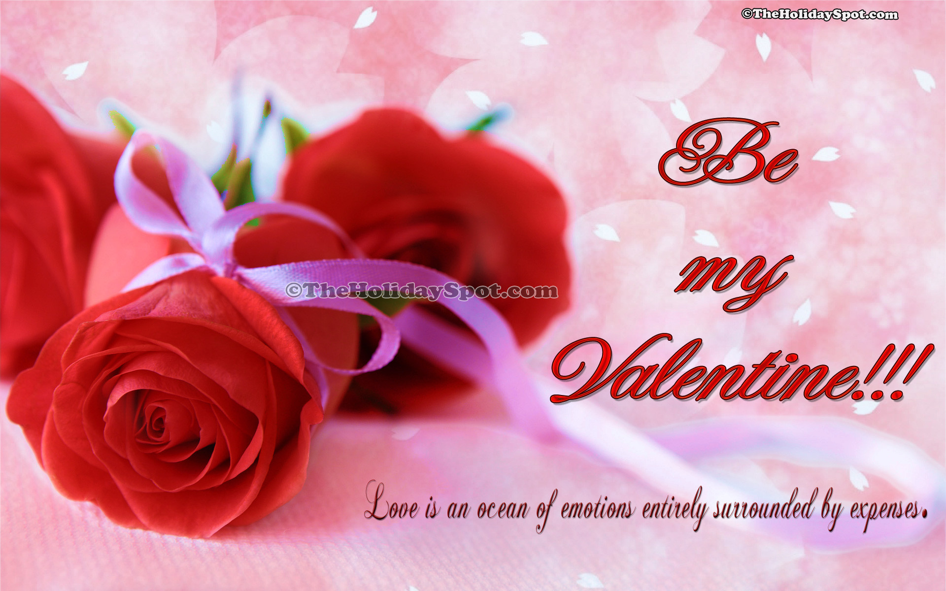 1920x1200 HD valentine's day wallpapers of two red roses