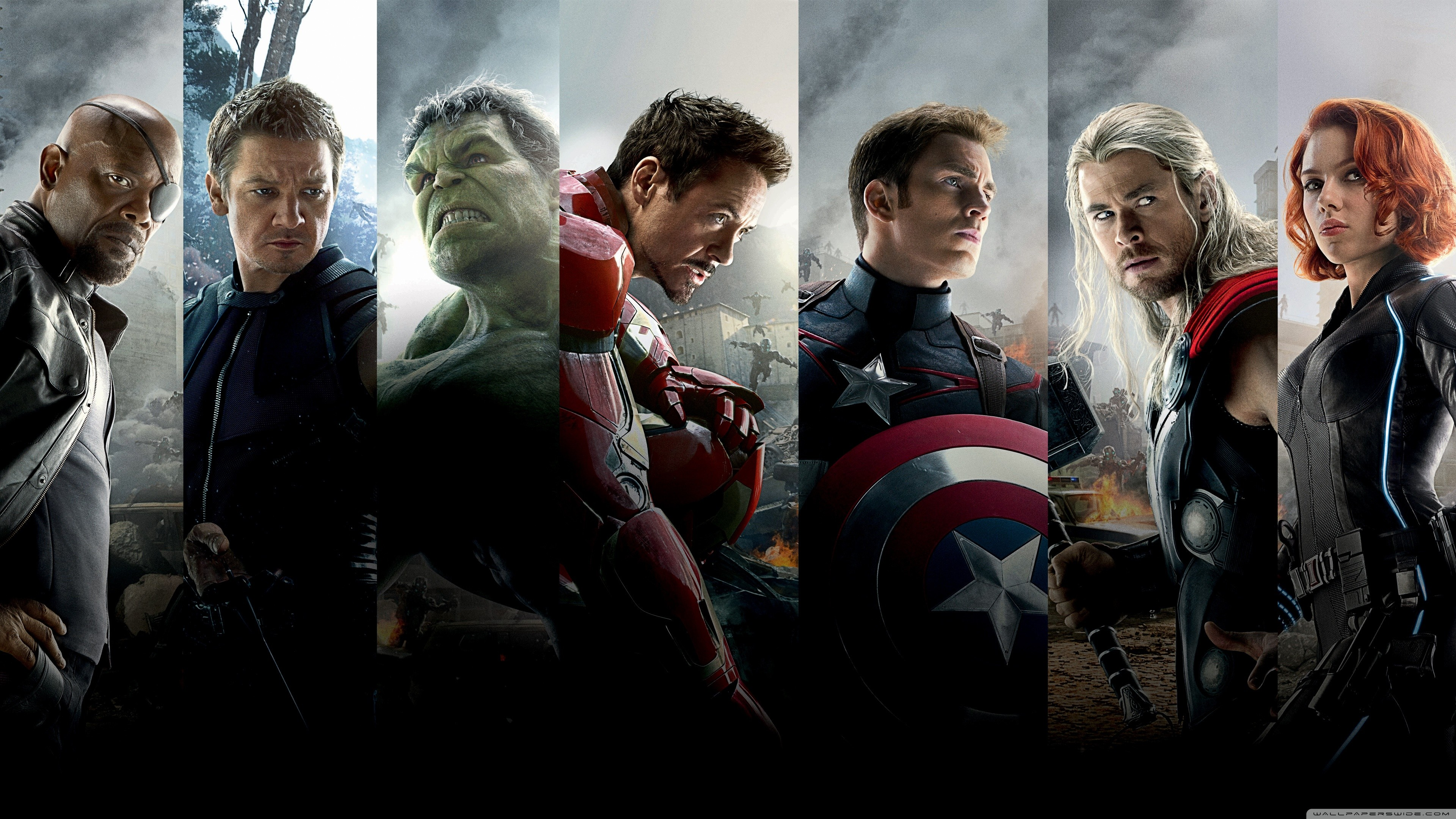 3840x2160 The Avengers Age of Ultron Team HD Wide Wallpaper for 4K UHD Widescreen  desktop & smartphone