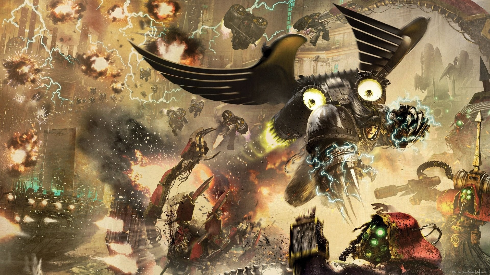 1920x1080 Sci Fi - Horus Heresy Corax: Soulforge Wallpaper
