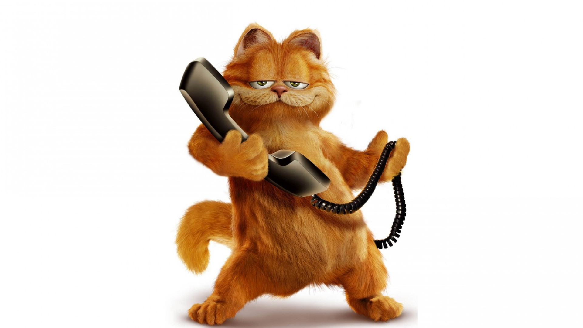 1920x1080 Preview wallpaper garfield, cat, cartoon, phone
