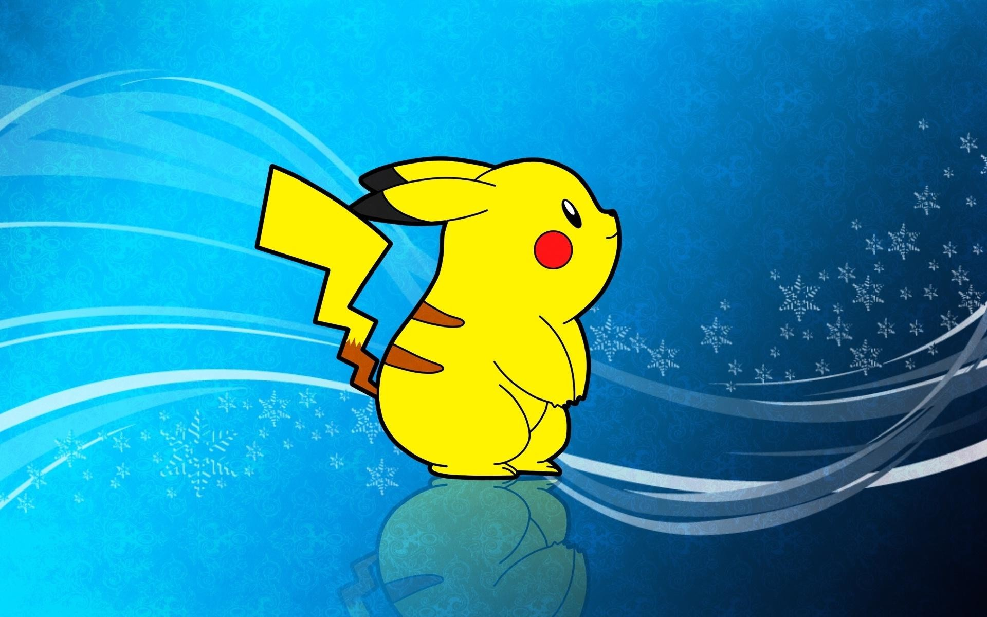 1920x1200 Pikachu pokemon yellow anime HD wallpaper.