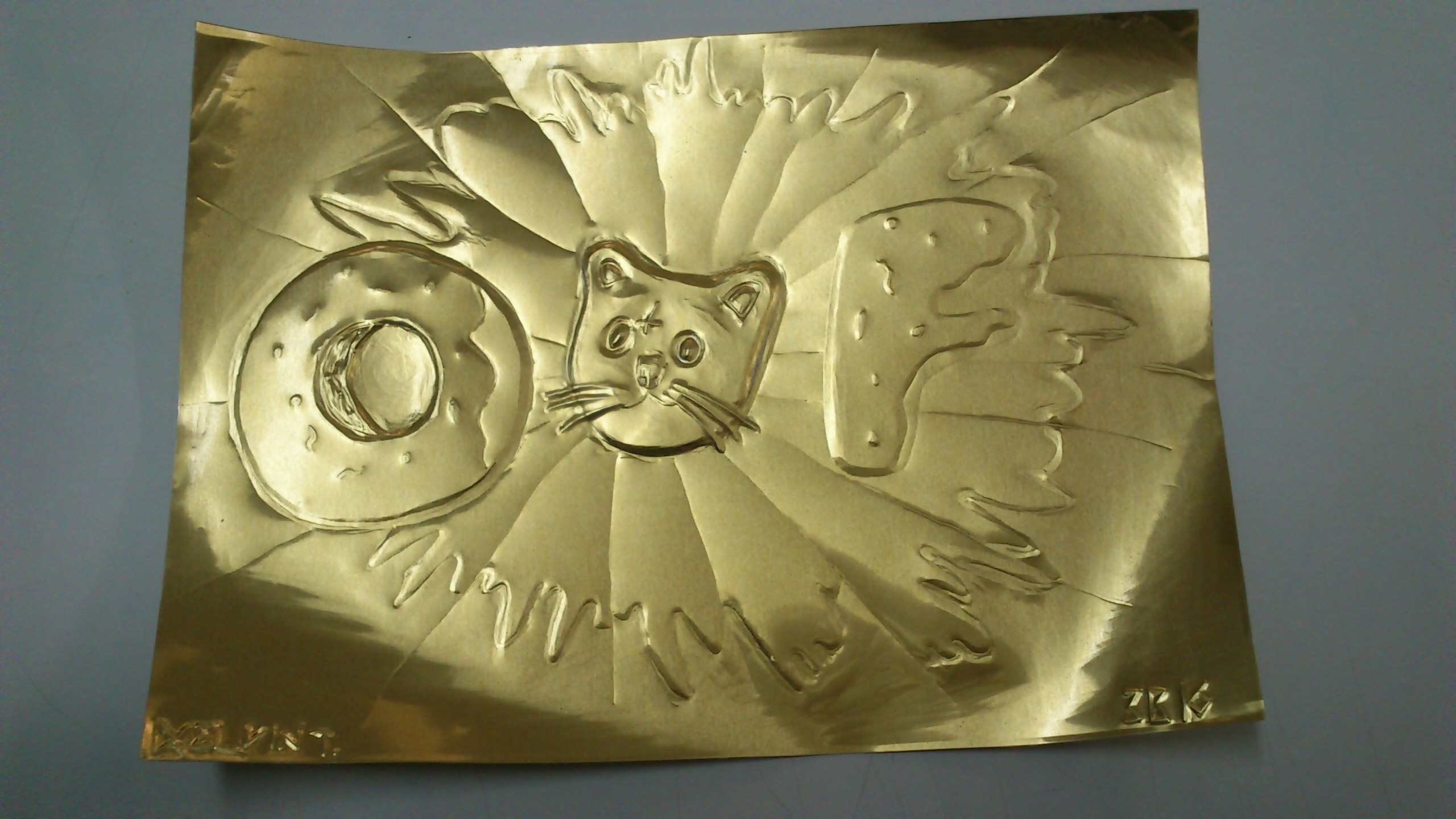 2560x1440 ... Odd Future Logo and Cat on copper board by KelvinTang