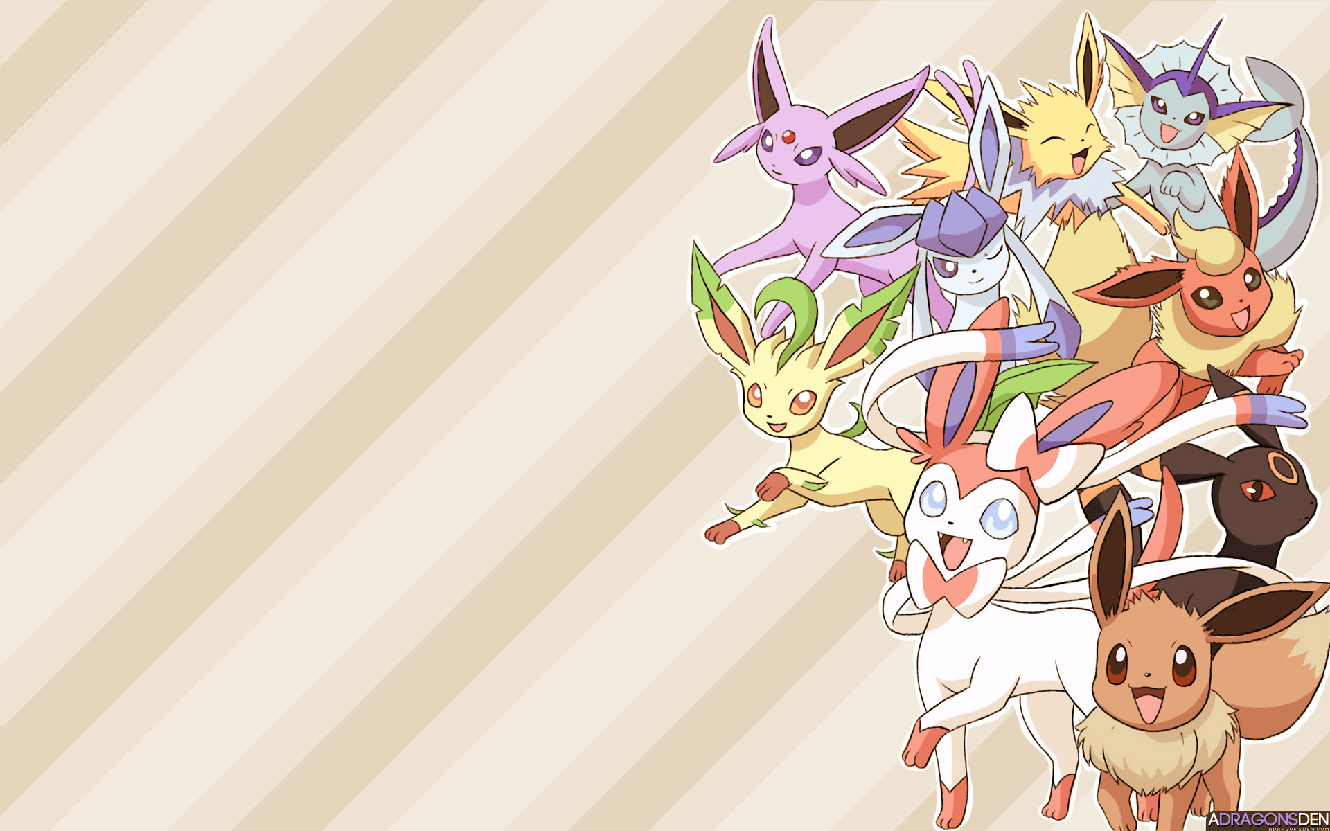 2560x1600 Pokemon Shiny Eevee Wallpaper My Little Flutteon