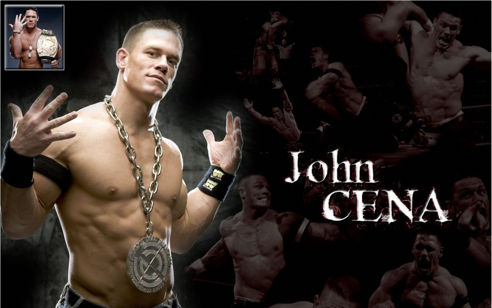 1920x1200 John Cena Body Builders Wallpaper