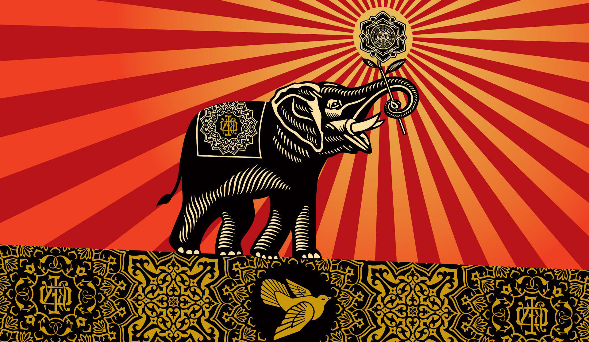 1920x1116 Obey Elephants Shepard Fairey Incase Wallpapers HD / Desktop and Mobile  Backgrounds