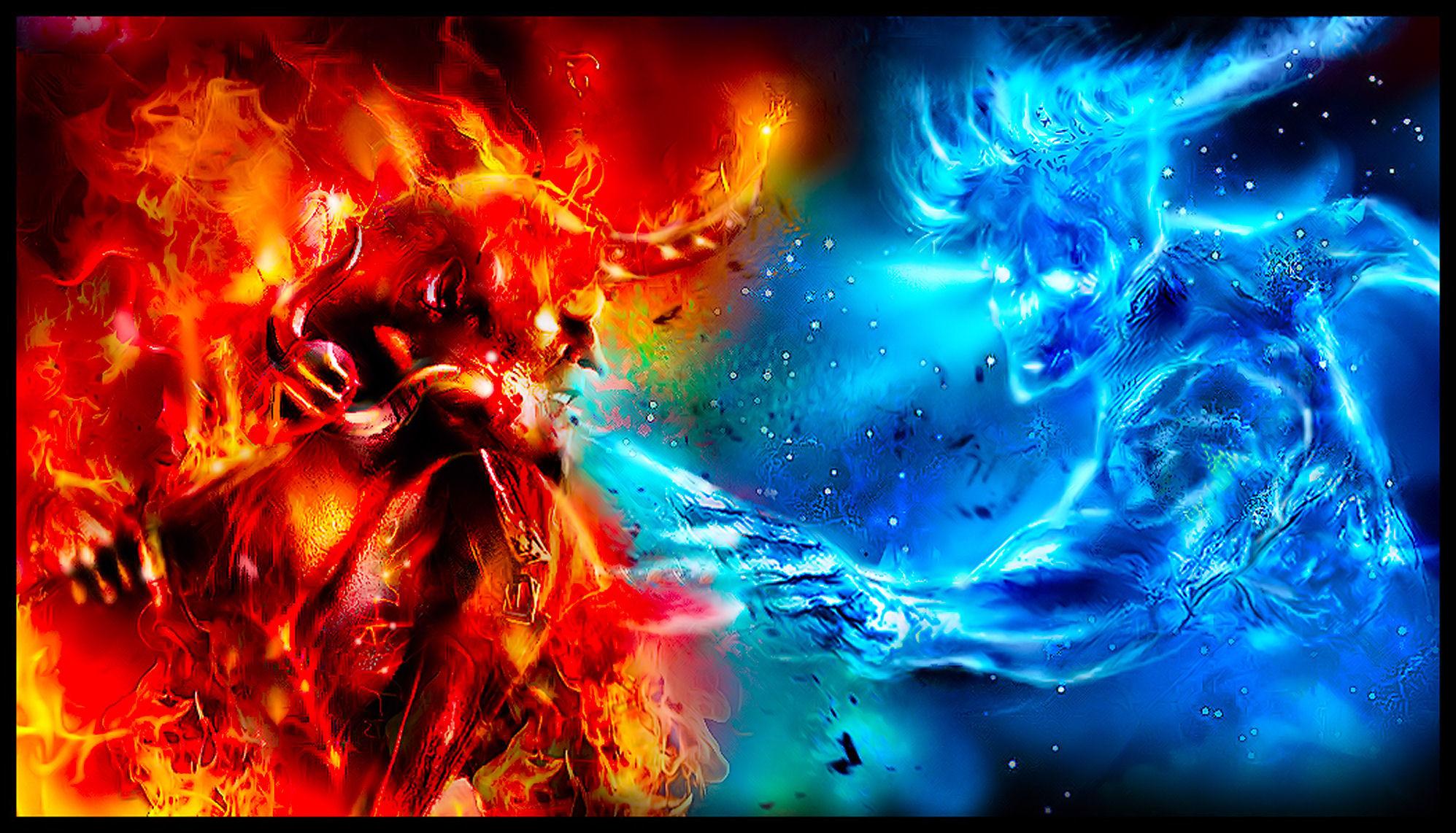 Good vs evil wallpaper 58 images - Free evil angel pictures ...