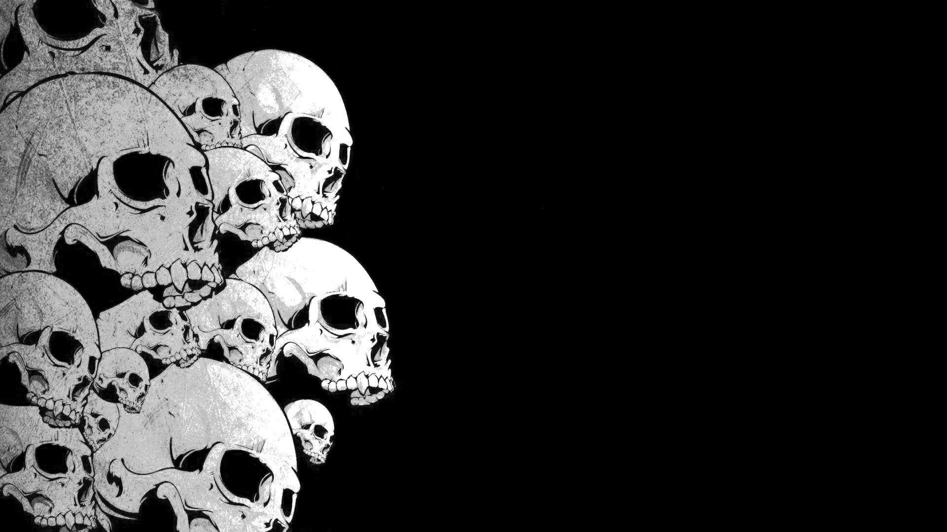 Black And White Skulls Wallpaper 59 Images