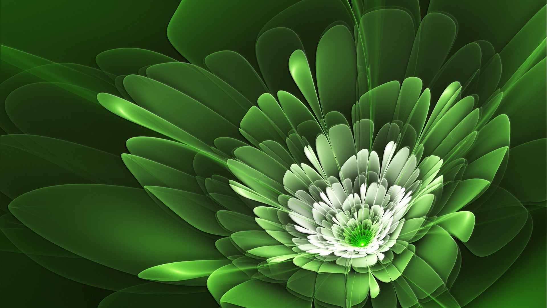 1920x1080 Green Flowers HD wallpaper