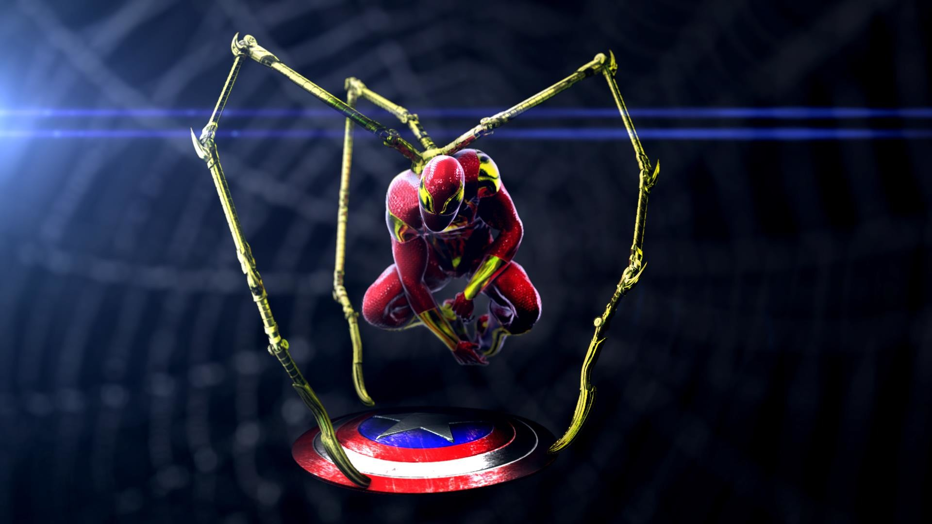 Iron spider hd wallpaper 77 images - Iron man spiderman wallpaper ...