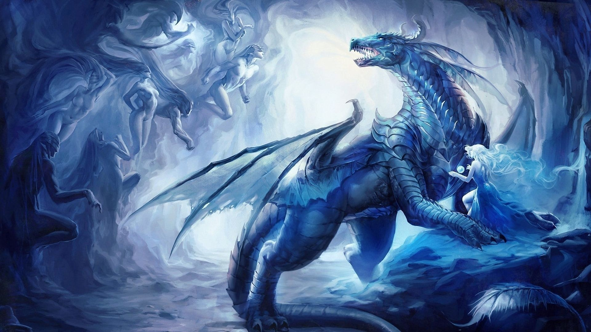 X Blue Dragon Wallpapers Wallpaper