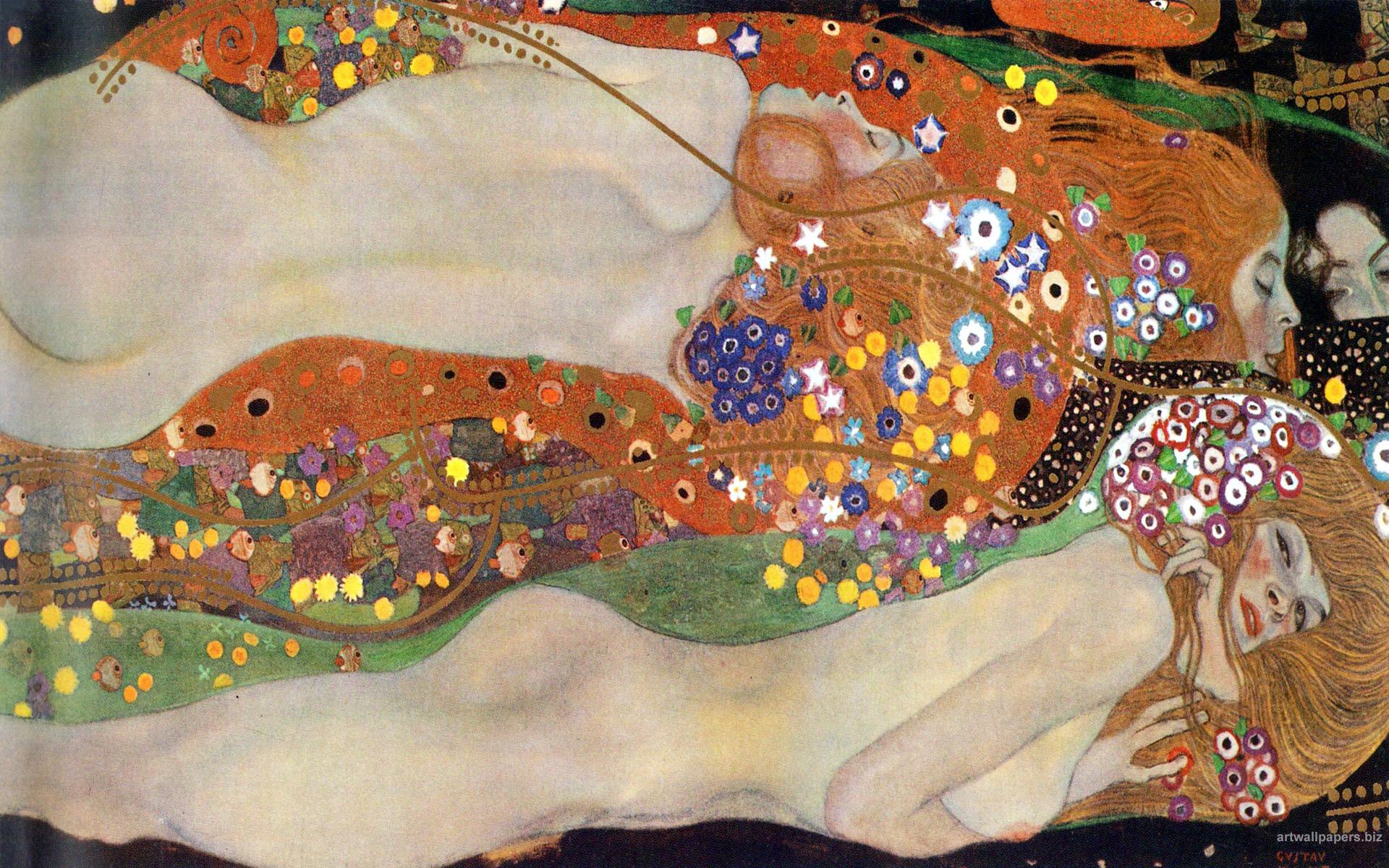 Gustav Klimt Wallpaper (54+ images) Geometric Painting Ideas