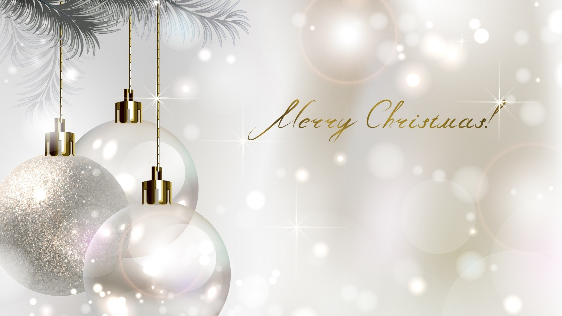 1920x1080 White And Gold Christmas Wallpaper (07)