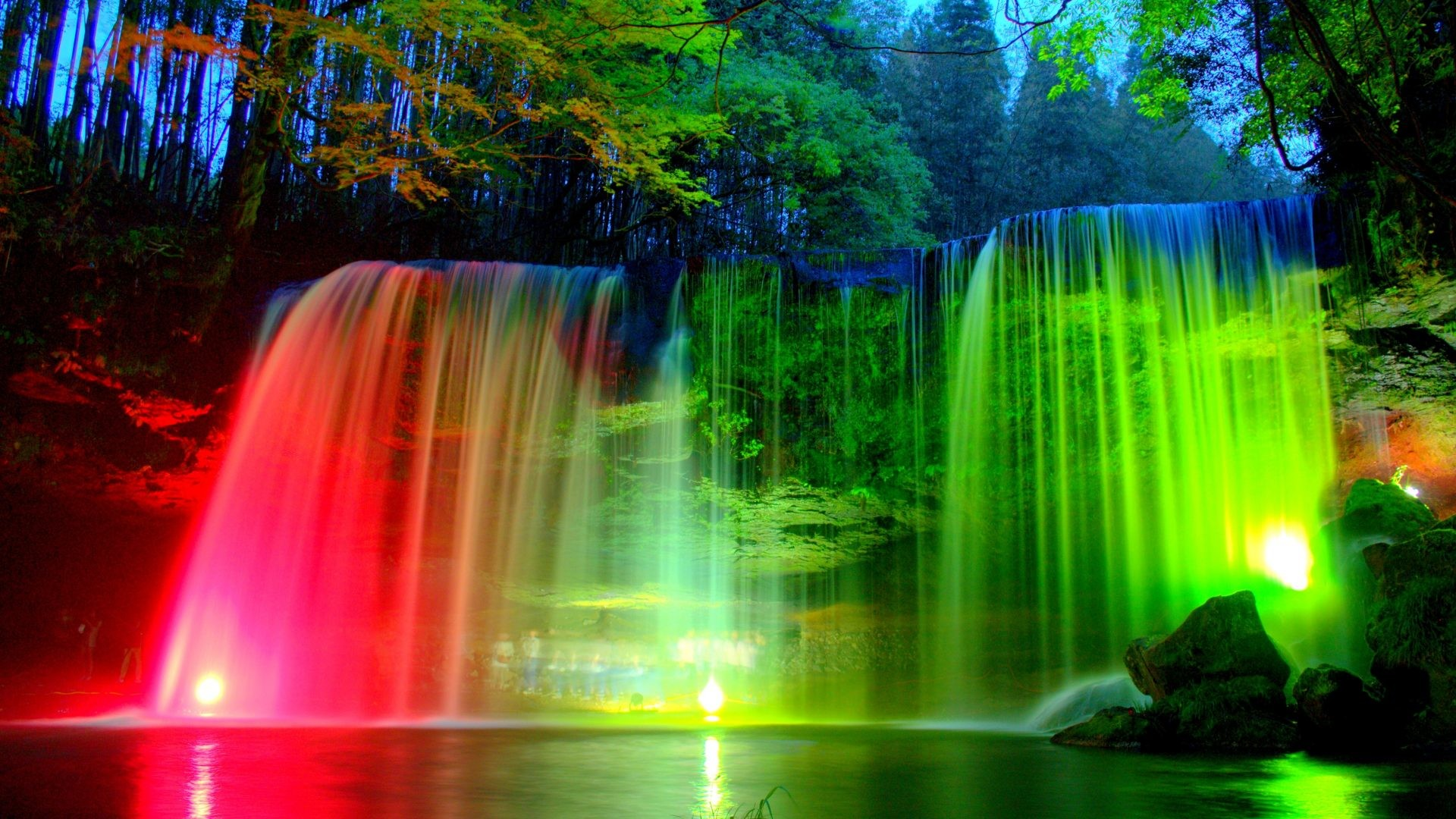 desktop wallpapers waterfalls with rainbow (34+ images)
