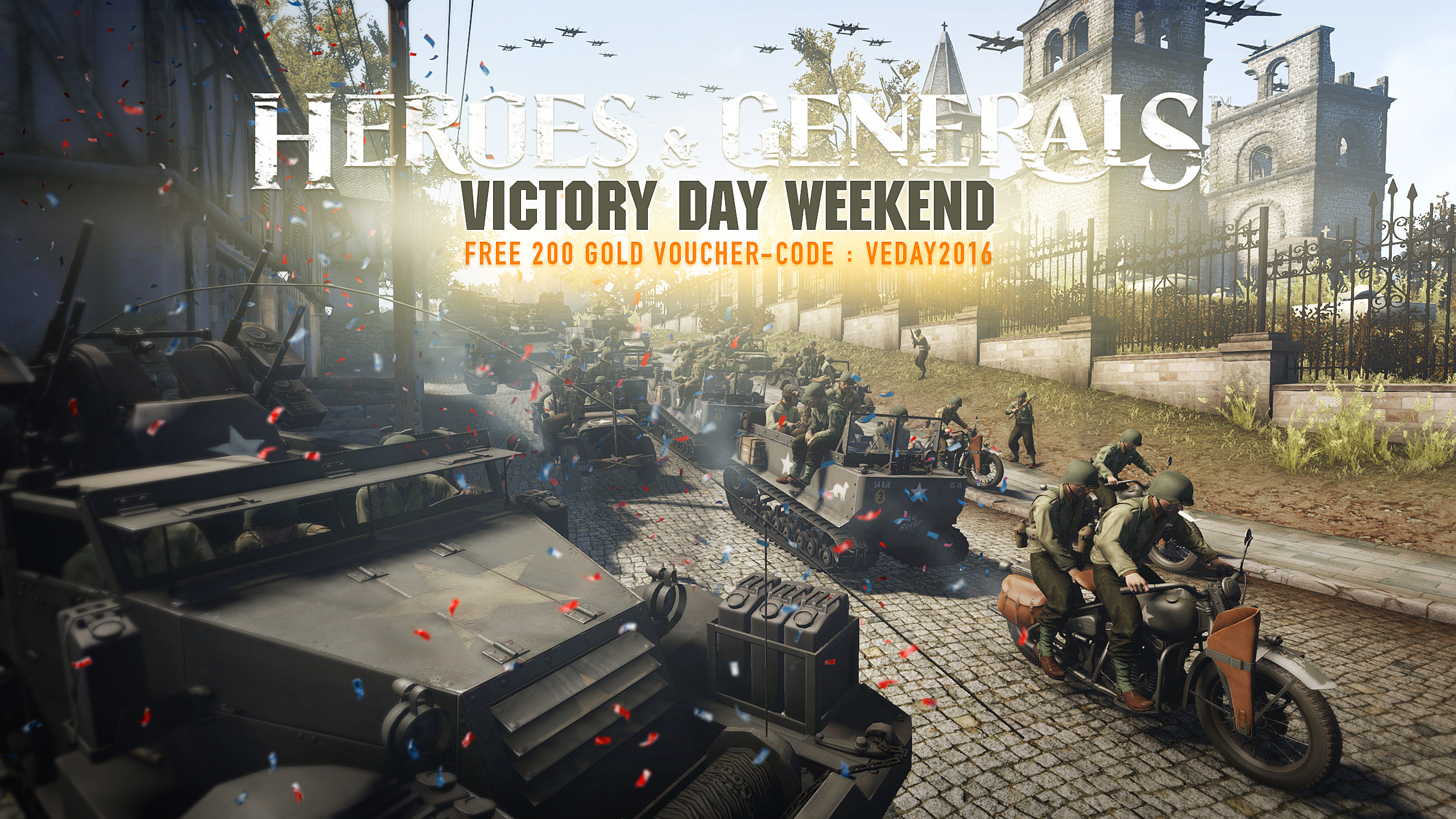 2560x1440 Free Gold to celebrate Victory Day Weekend