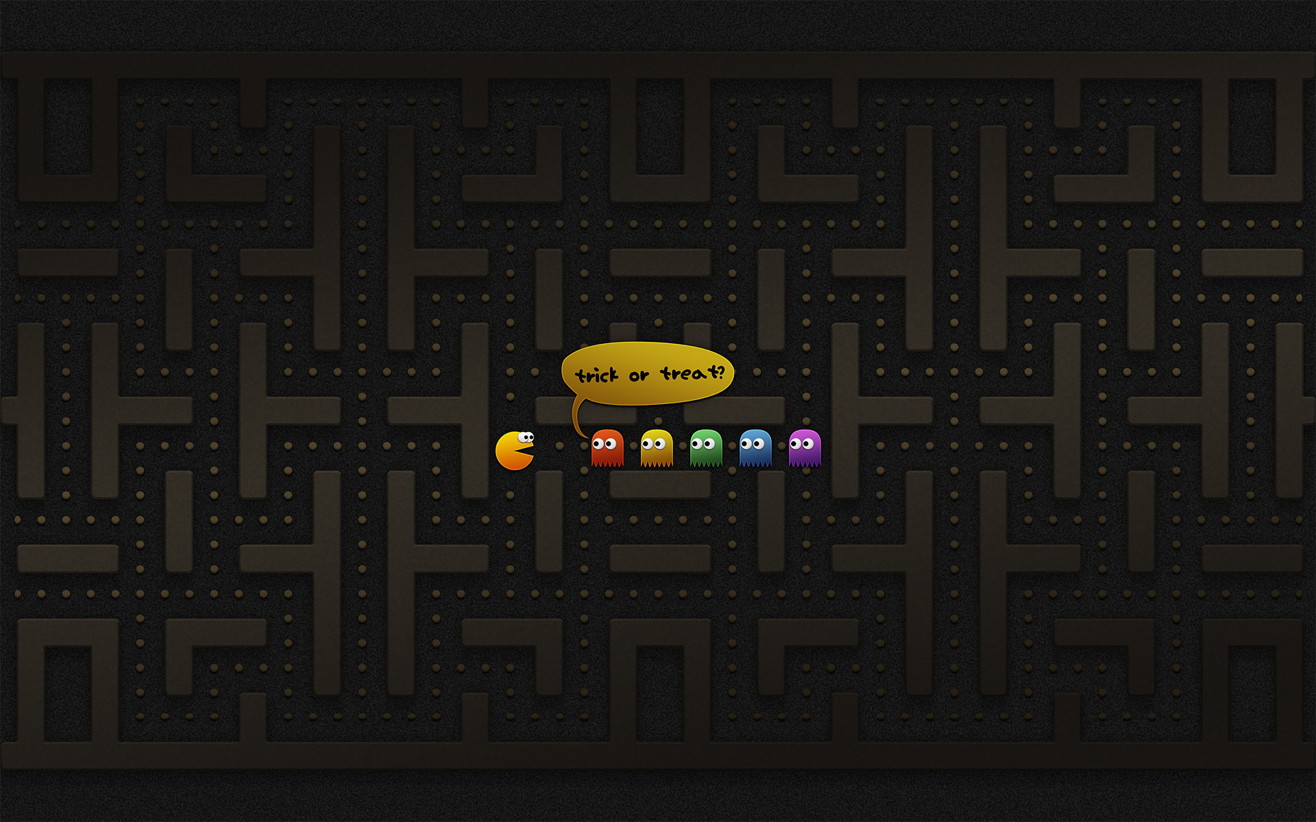 1920x1200 A List of the Best Halloween Wallpapers for Your Computer: Trick or Treat?  Pac-Man Edition by Vladstudio