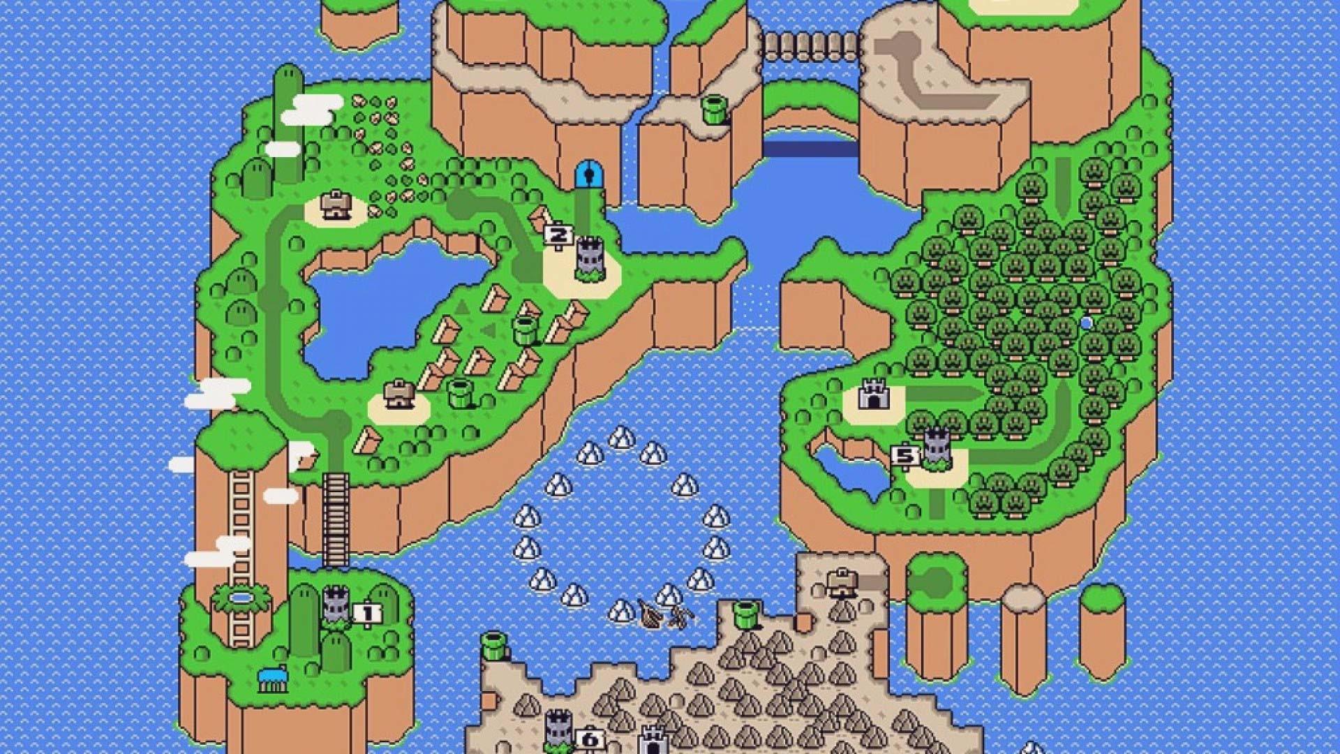 Mario 3 World Map.Super Mario World Map Wallpaper 56 Images