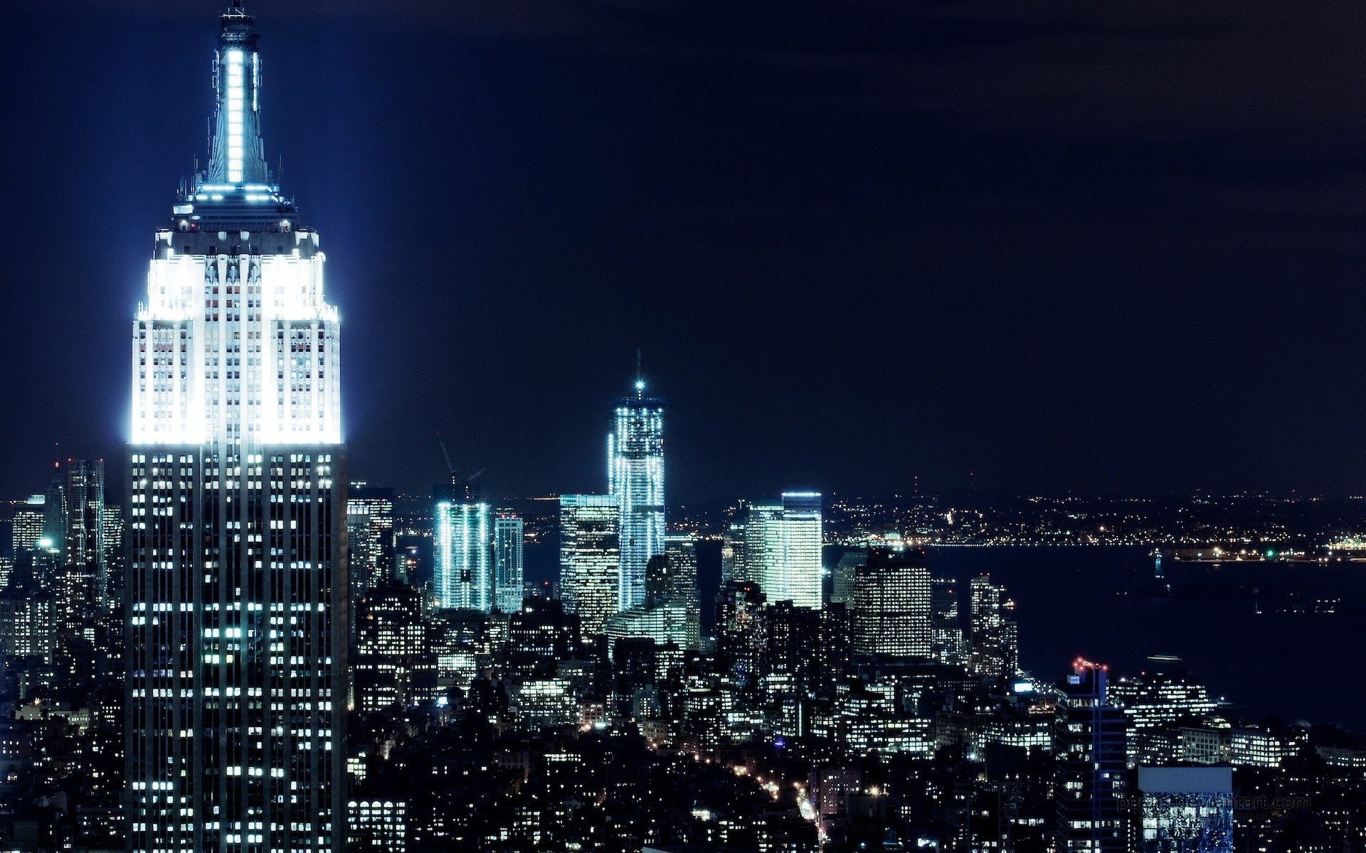 1920x1200 New York City Nights Wallpapers