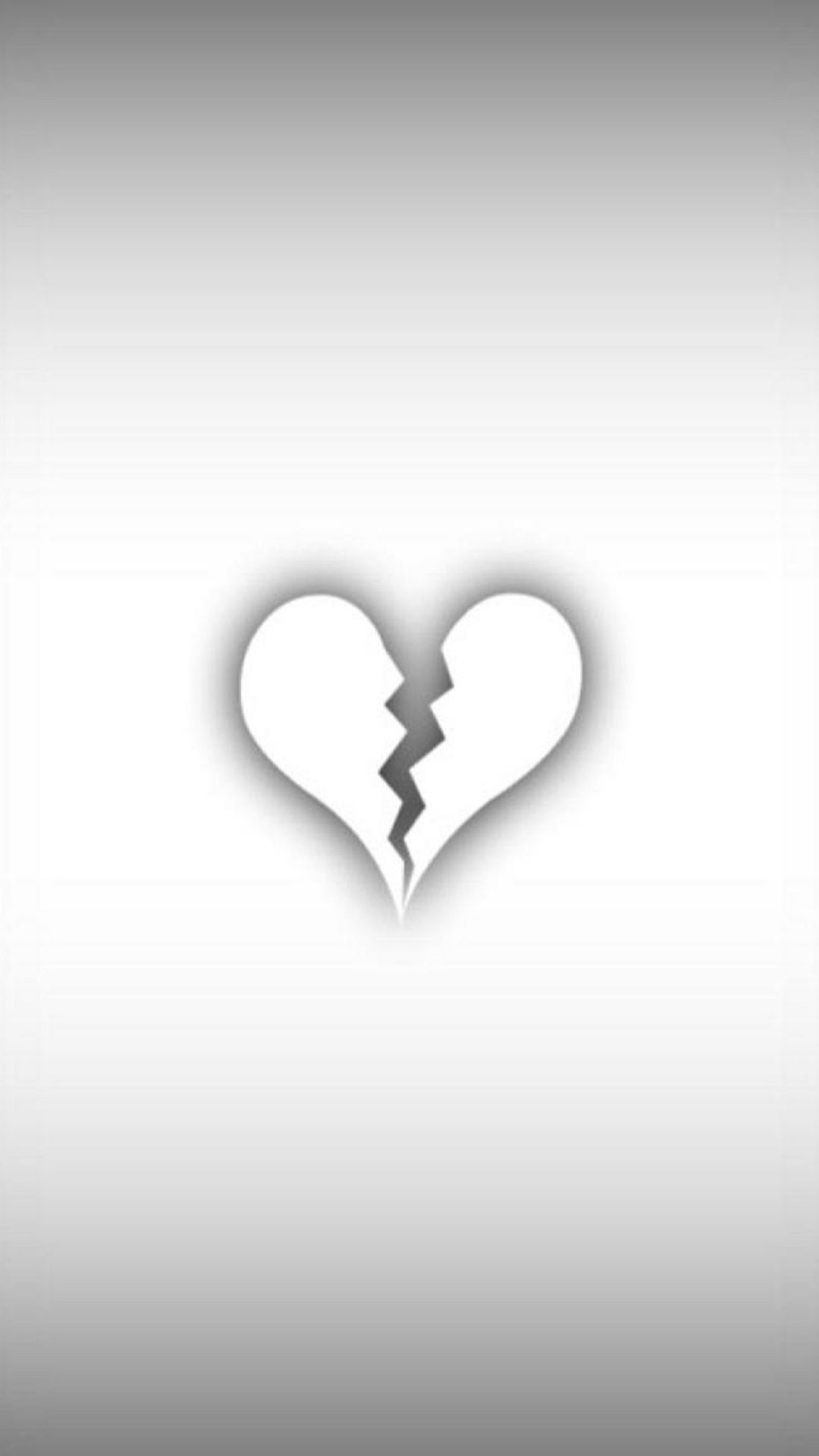 1080x1920 Minimalist White Broken Heart Android Wallpaper ...