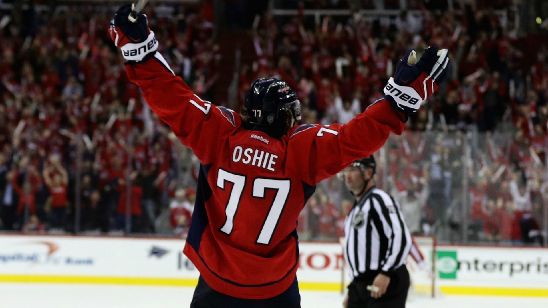1920x1080 Stanley Cup playoffs three stars: T.J. Oshie completes hat trick to stun  Penguins in OT | NHL | Sporting News