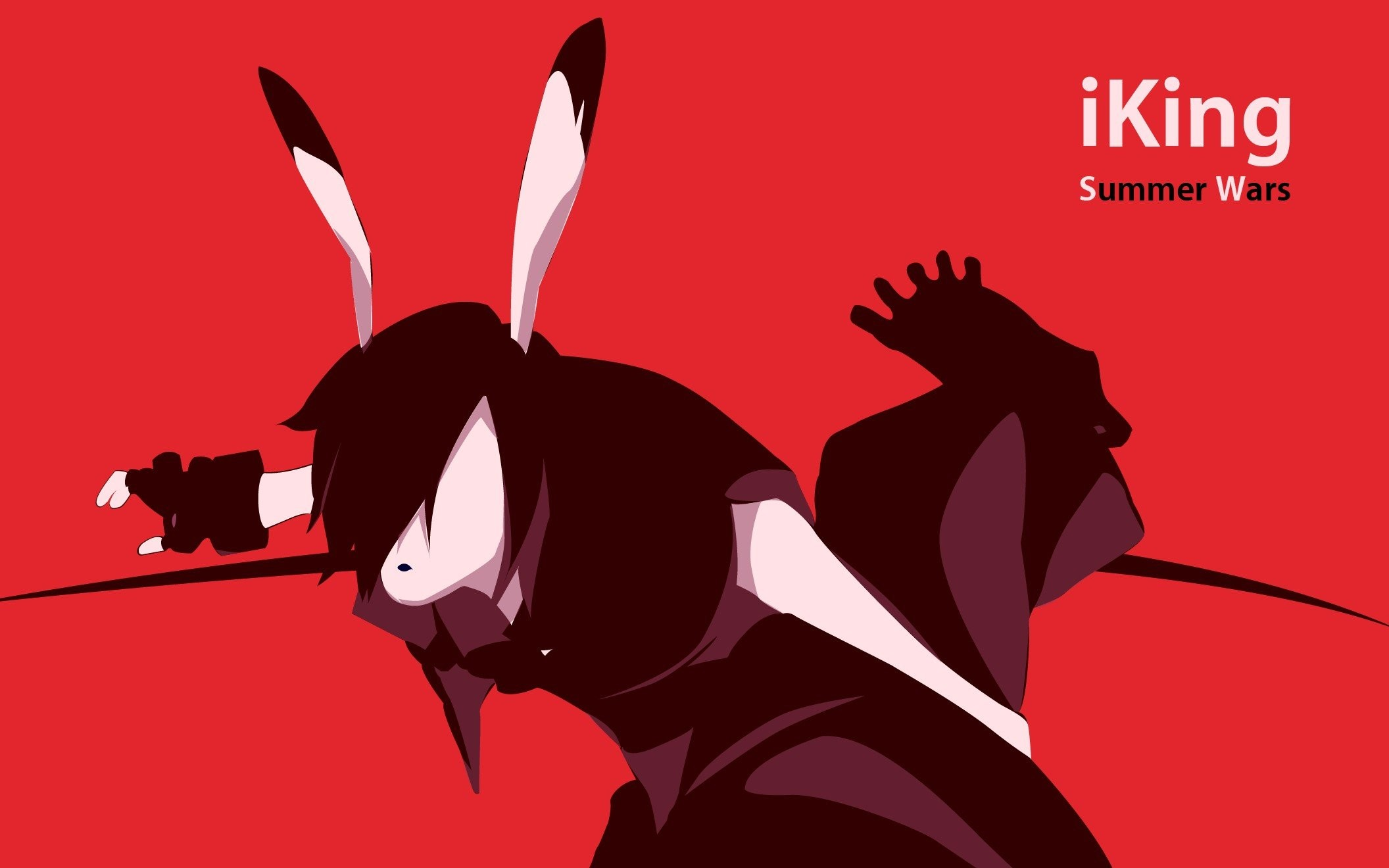 2112x1320 Red gloves iPod silhouettes king parody Summer Wars monochrome anime bunny  ears anime girls wallpaper |  | 253671 | WallpaperUP
