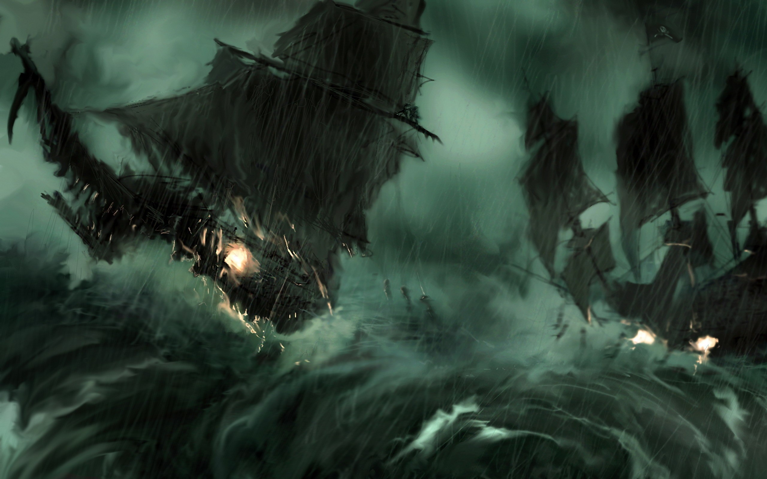2560x1600 rain,paintings paintings rain pirate ship storm pirates of the caribbean  artwork sail ship wallpaper – Ships Wallpaper – Desktop Wallpaper