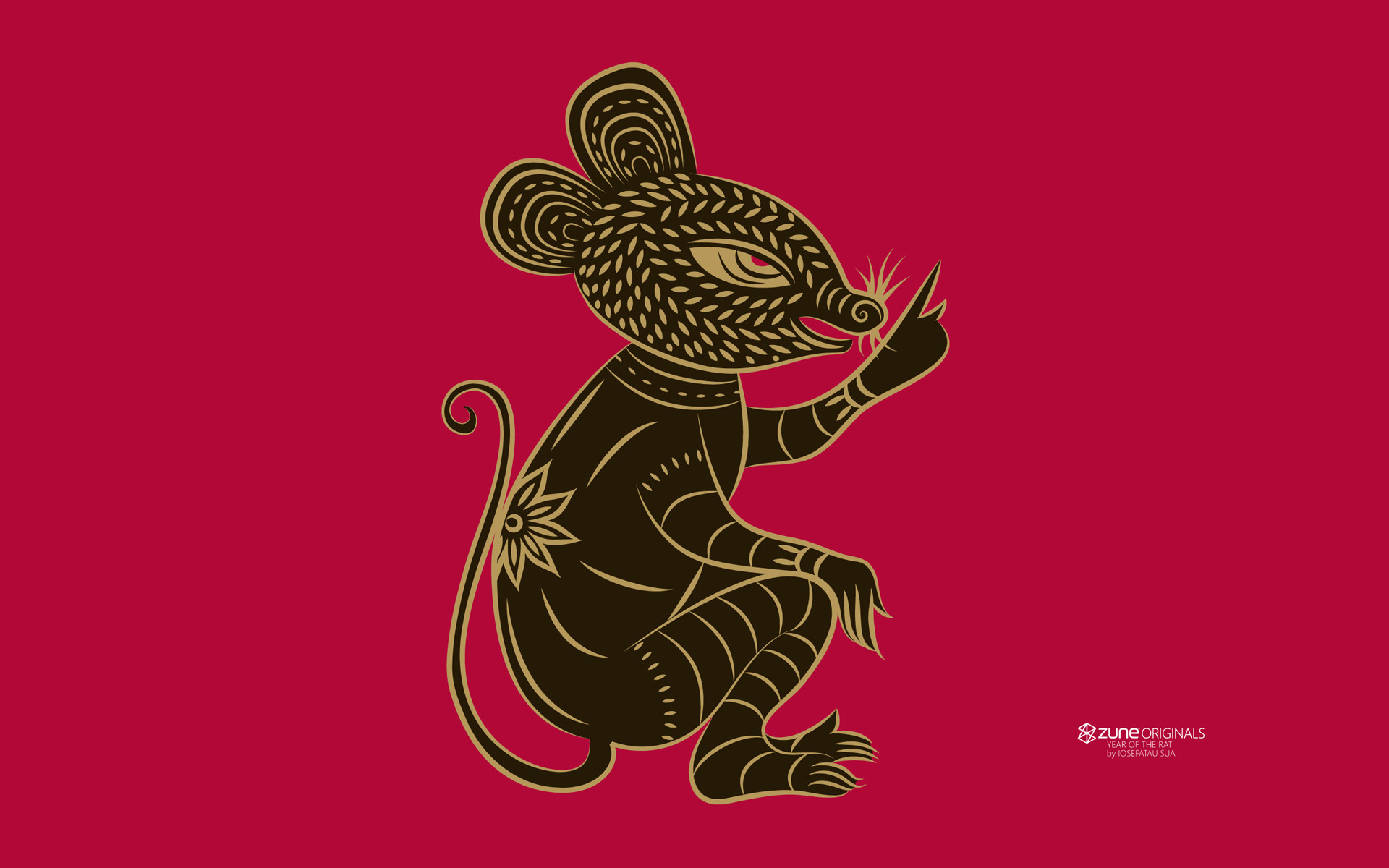 1920x1200 Products - Zune Zodiac Rat Wallpaper